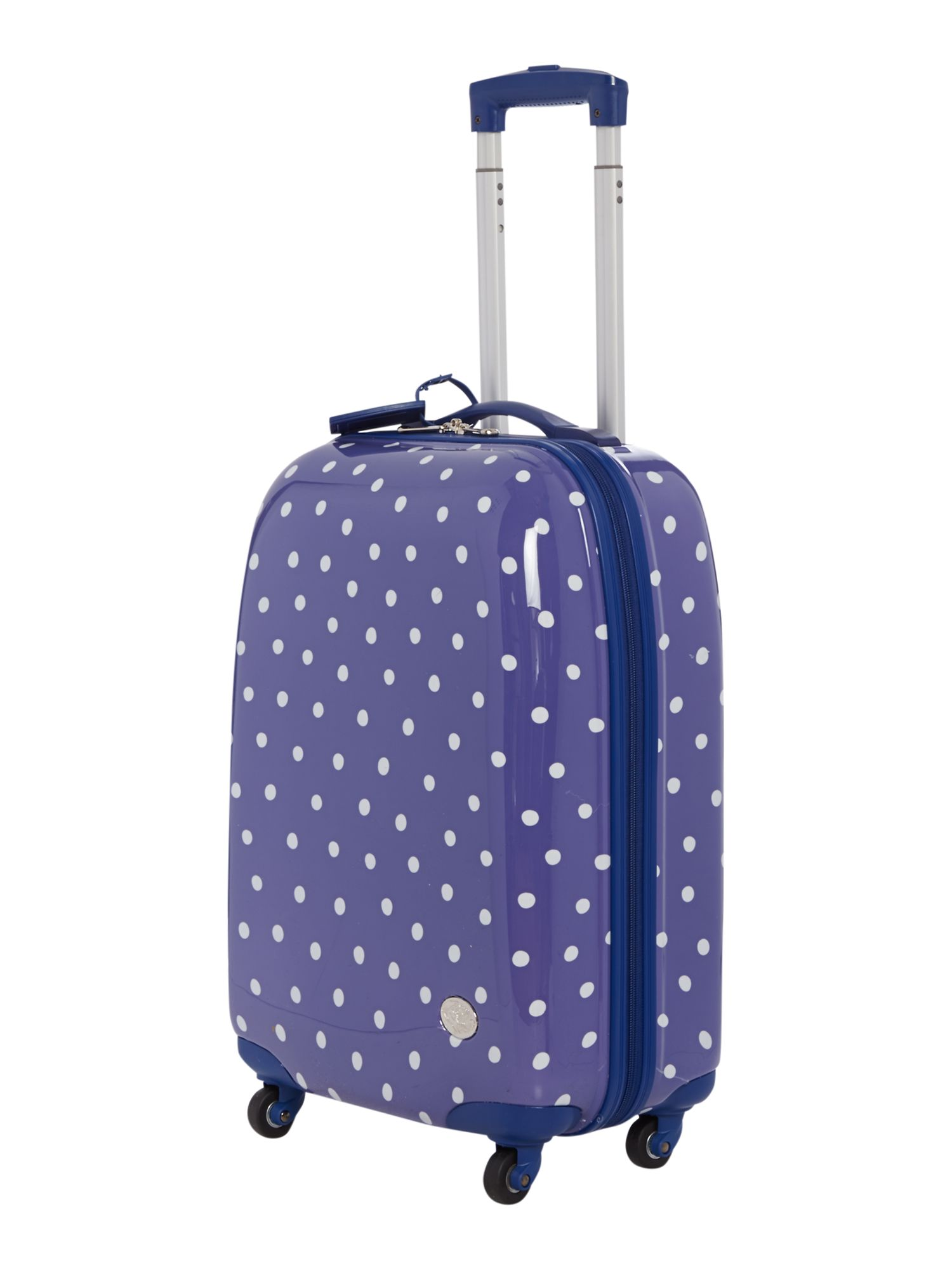 Polka dot print 4 wheel hard cabin case