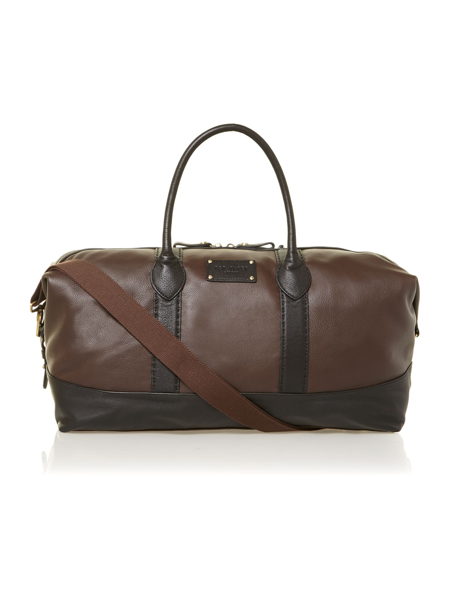 Stab stitch strap holdall bag