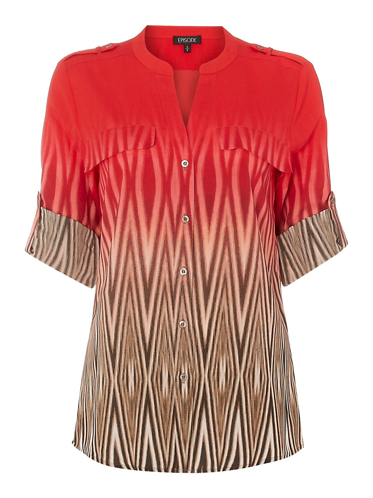 Sunset zebra long sleeve blouse