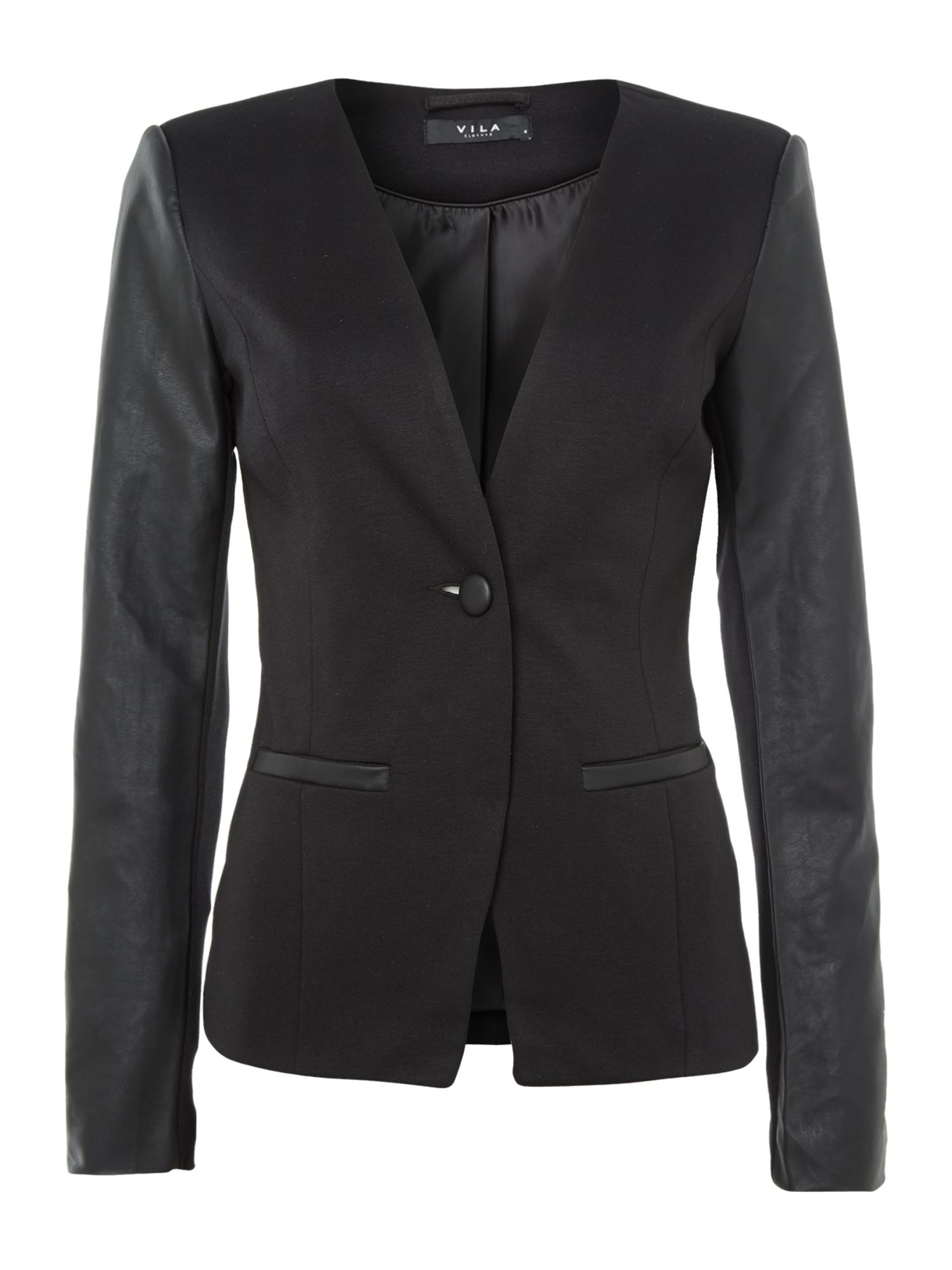Contrast sleeve jacket