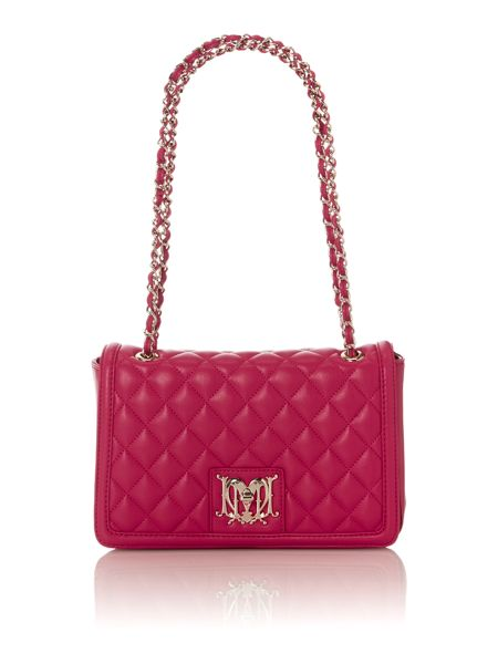 Love Moschino Black Medium Flapover Quilted Shoulder Bag 94