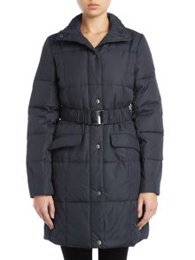 Tina belted long city puffa