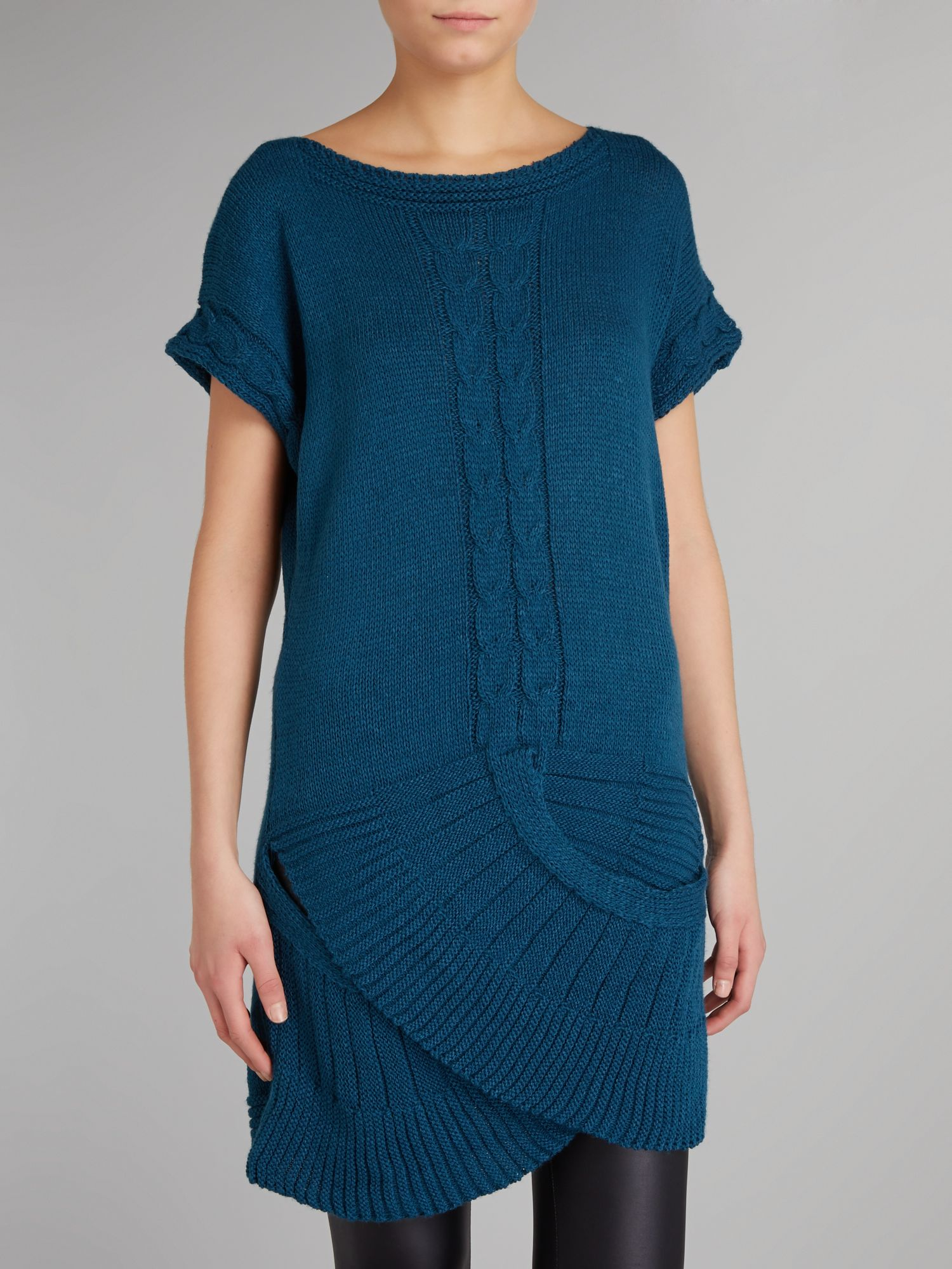 Cross over knitted tunic