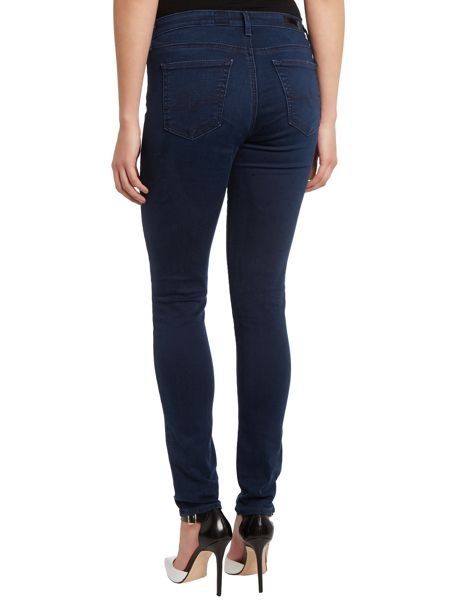 AG Jeans The Middi mid-rise legging jeans in Figaro