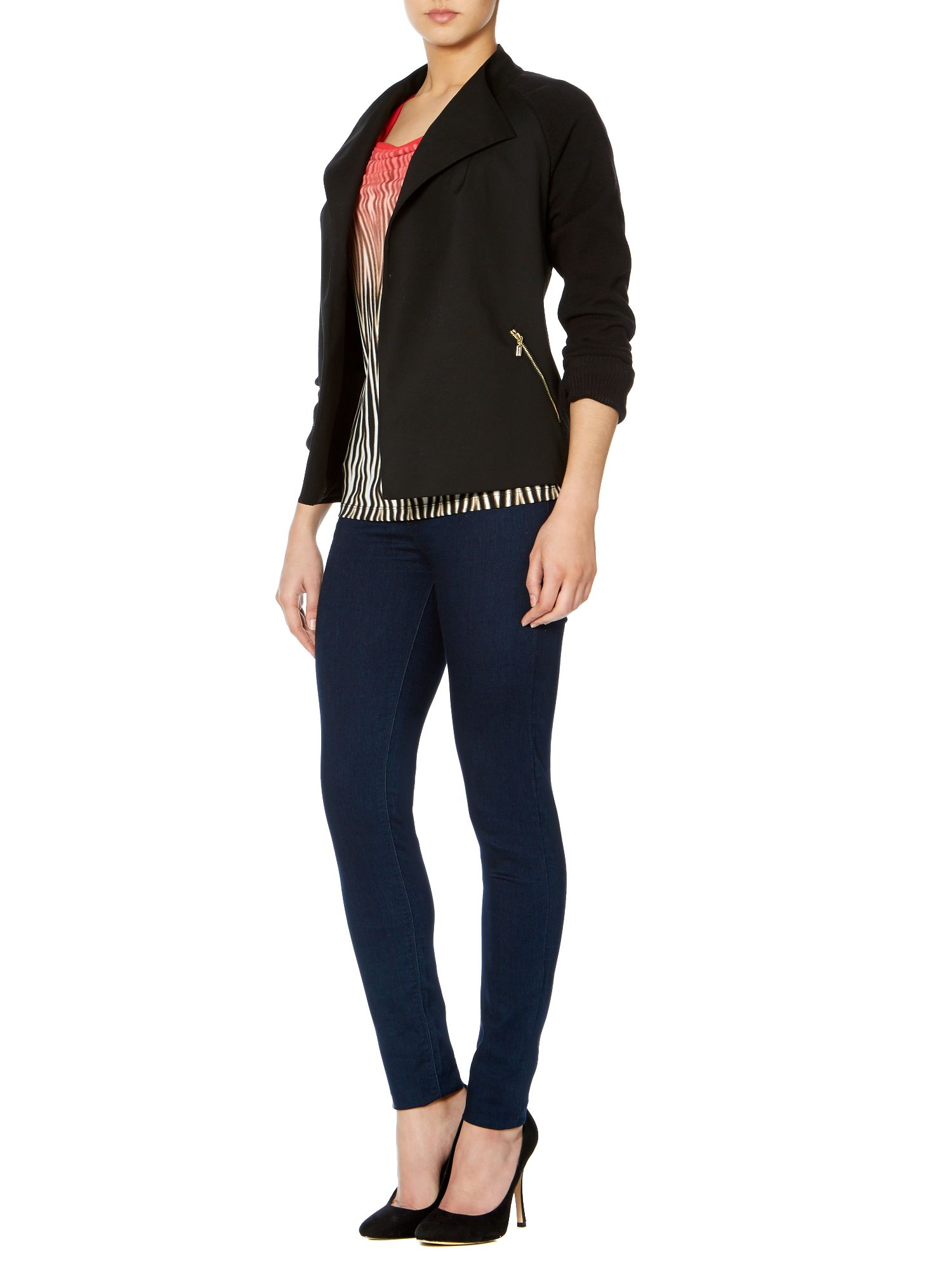 Waterfall zip jacket