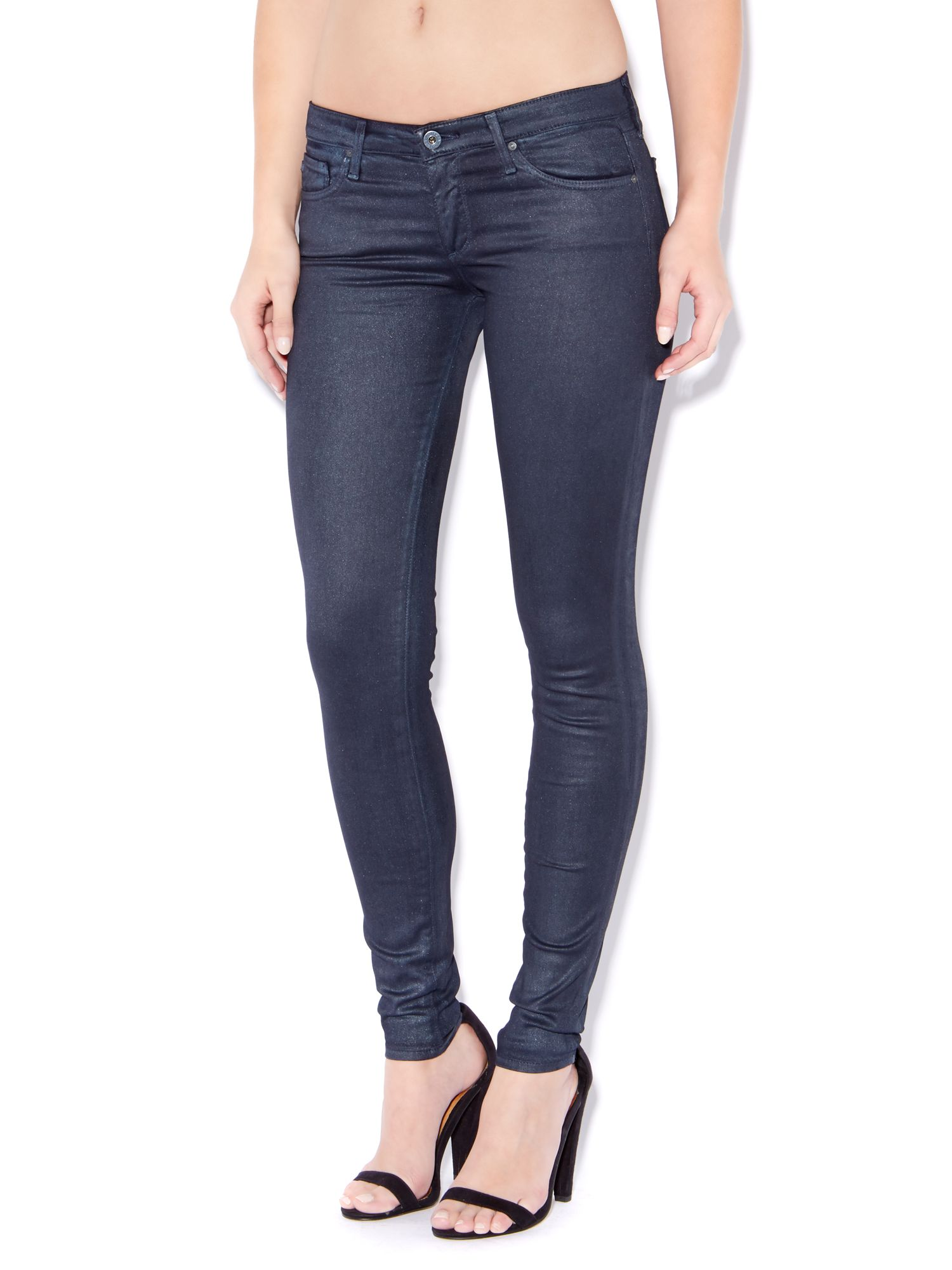 The Absolute Legging skinny coated jeans