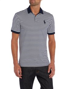 Classic striped pro fit polo shirt