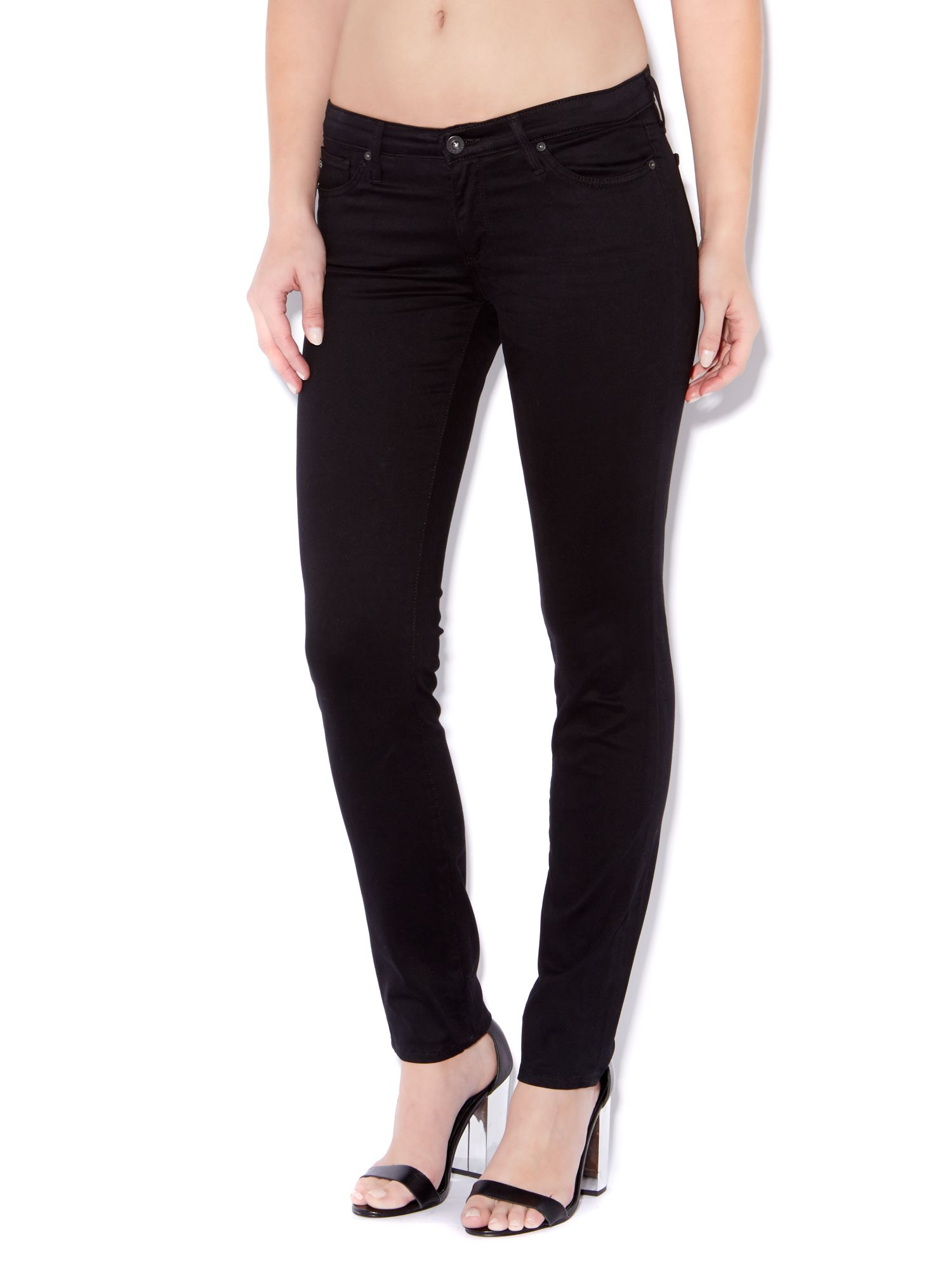 The Stilt cigarette leg jeans in Super Black
