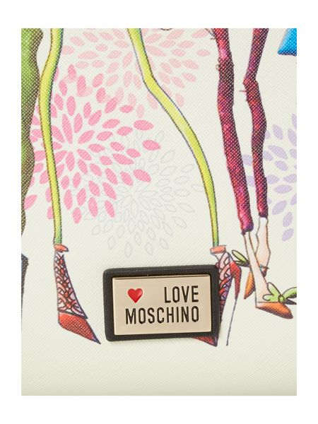 Love Moschino Black large charming tote bag