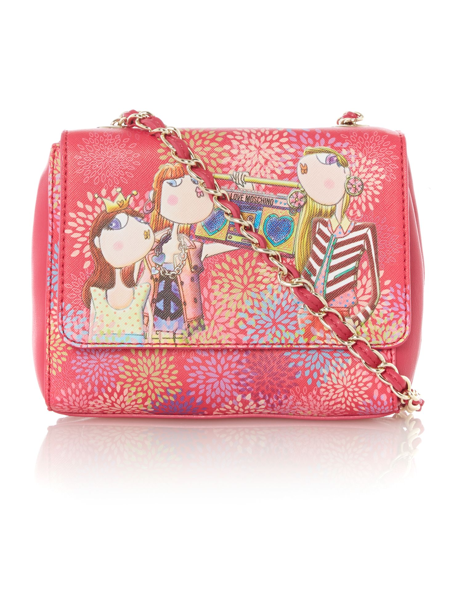 Pink mini charming cross body bag