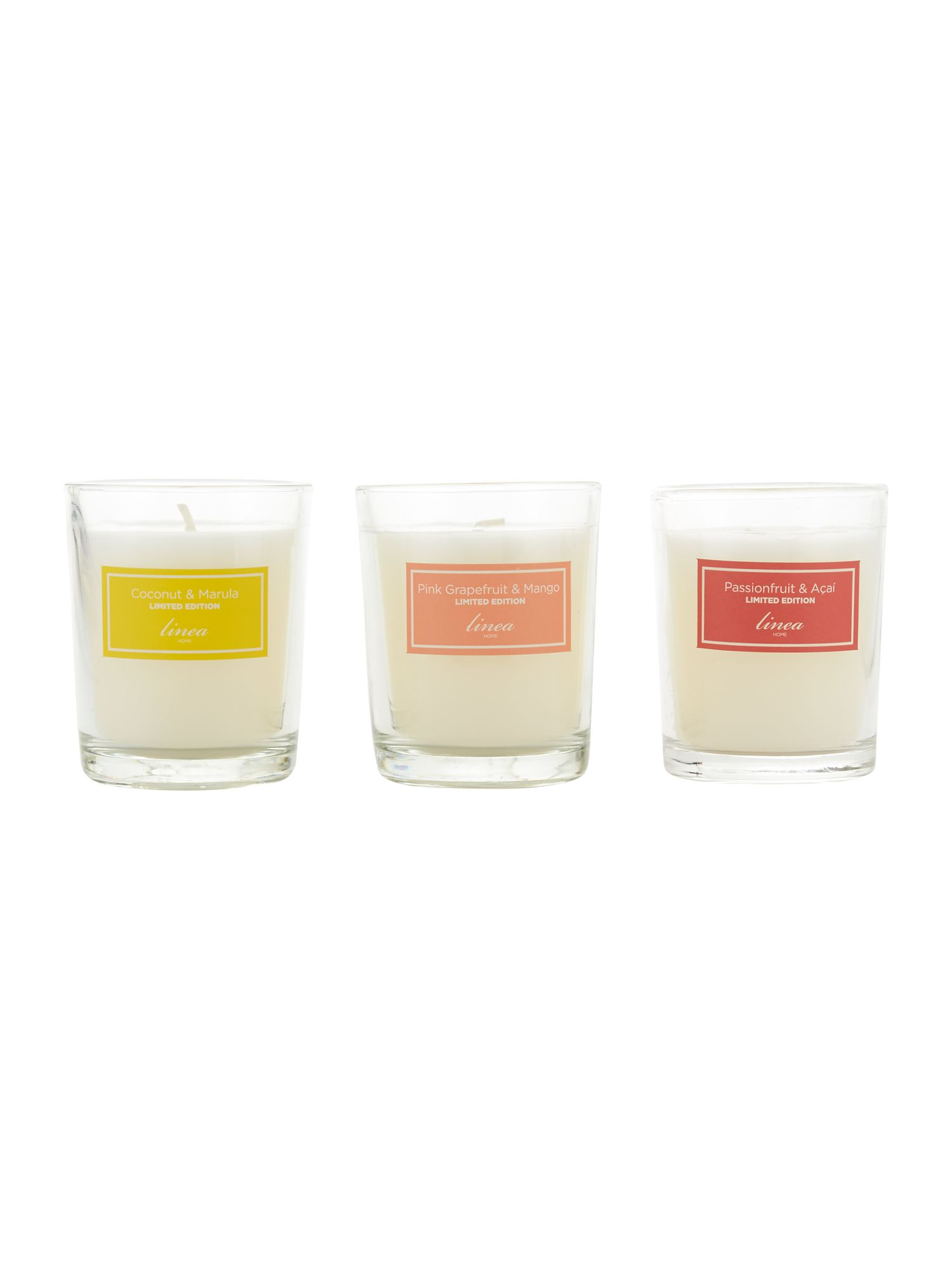 Limited edition set of 3 votives