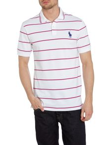 Wide striped pro fit polo shirt