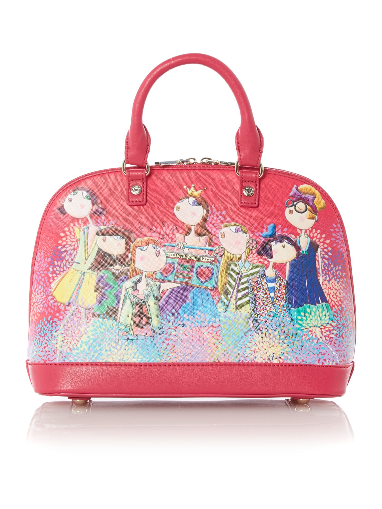 Pink medium charming dome bag