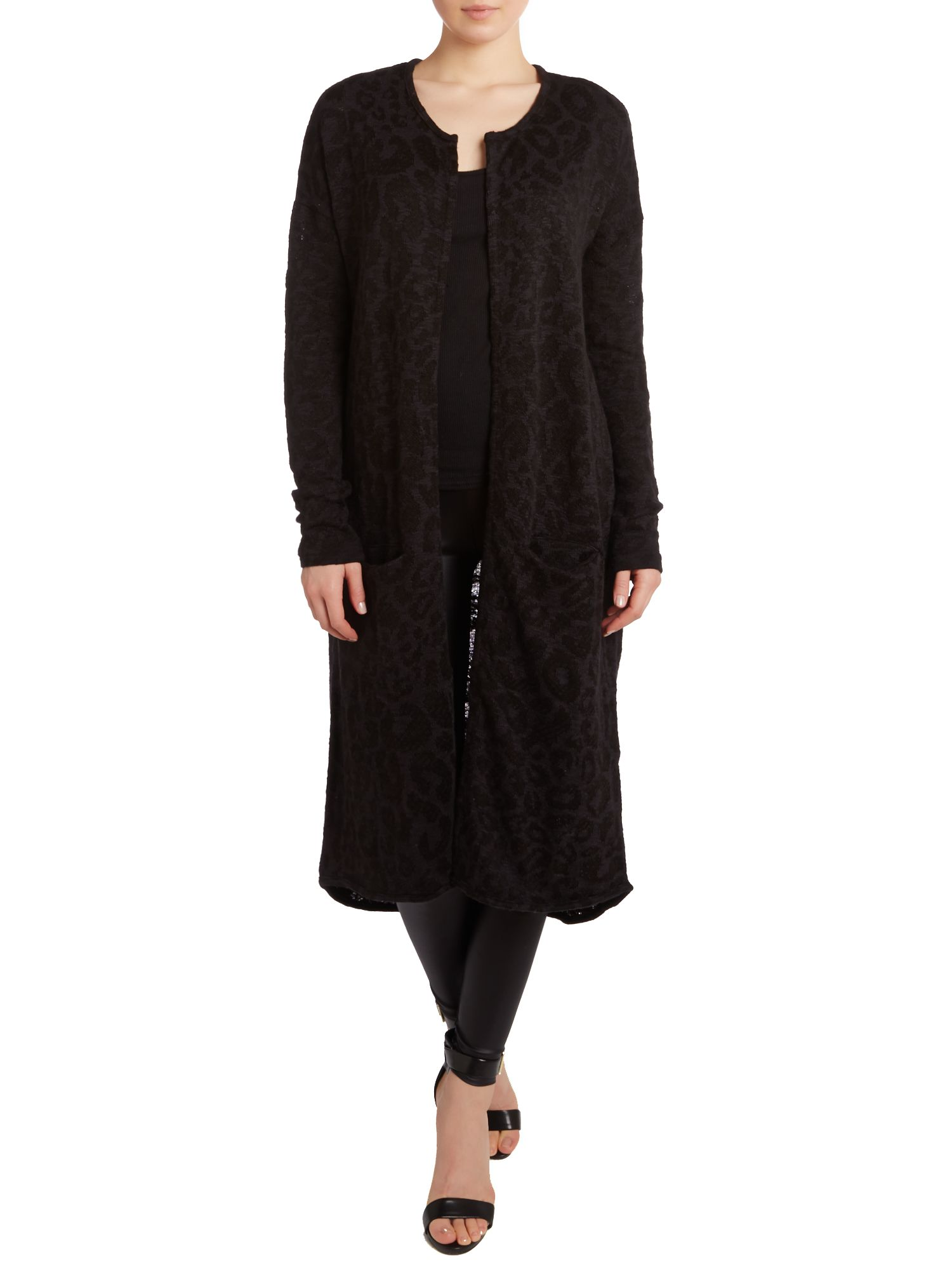 Leo knit long cardigan