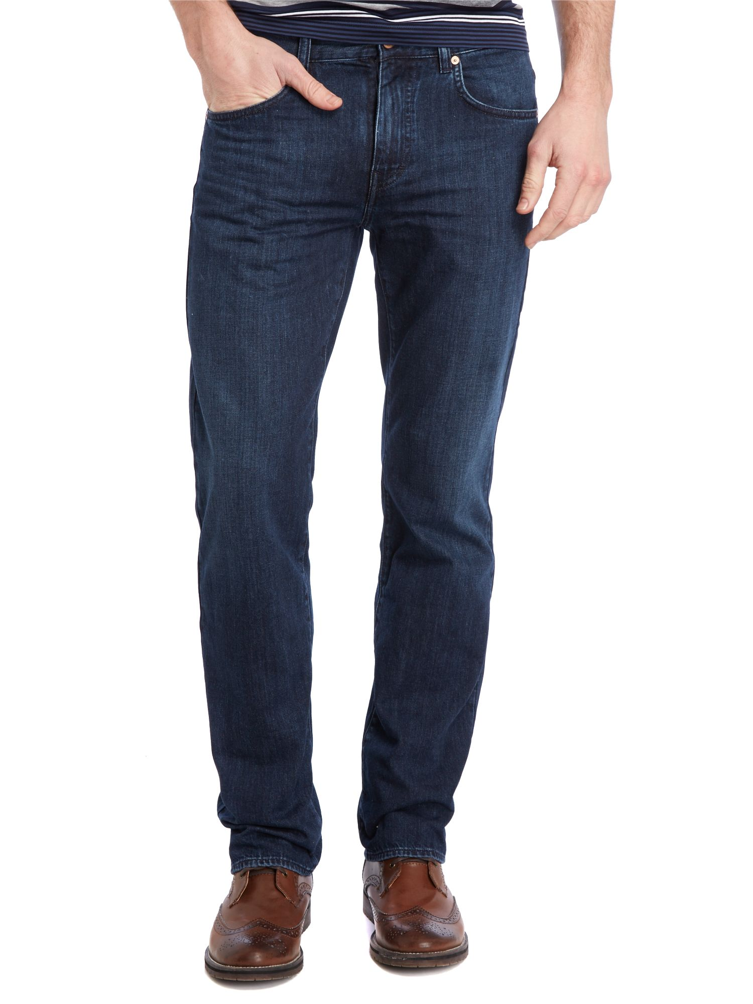 Kansas blue wash straight fit jean