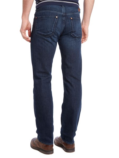 Hugo Boss Kansas blue wash straight fit jean