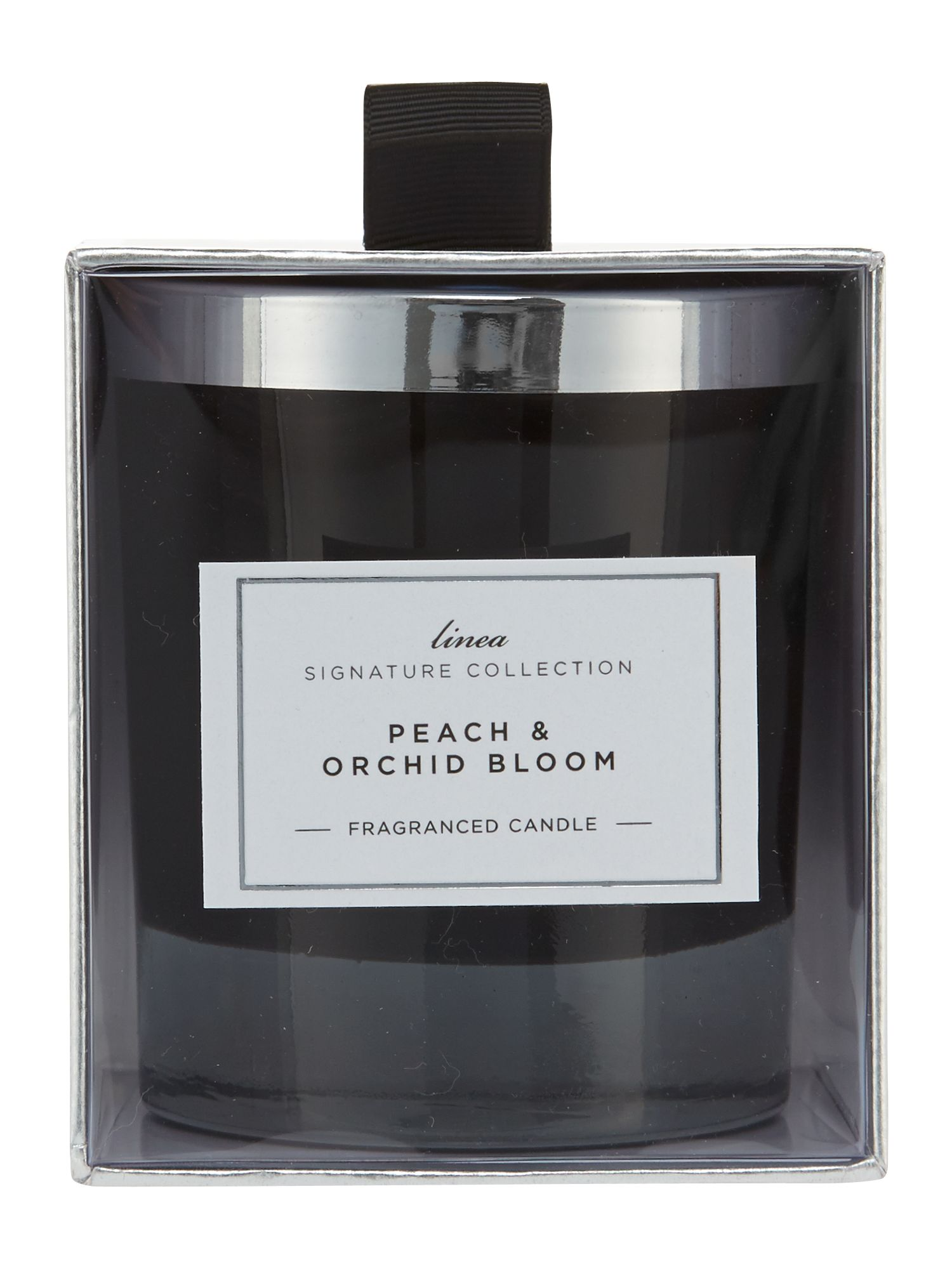 Peach & orchid bloom single candle