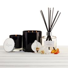Linea Peach & orchid bloom single candle