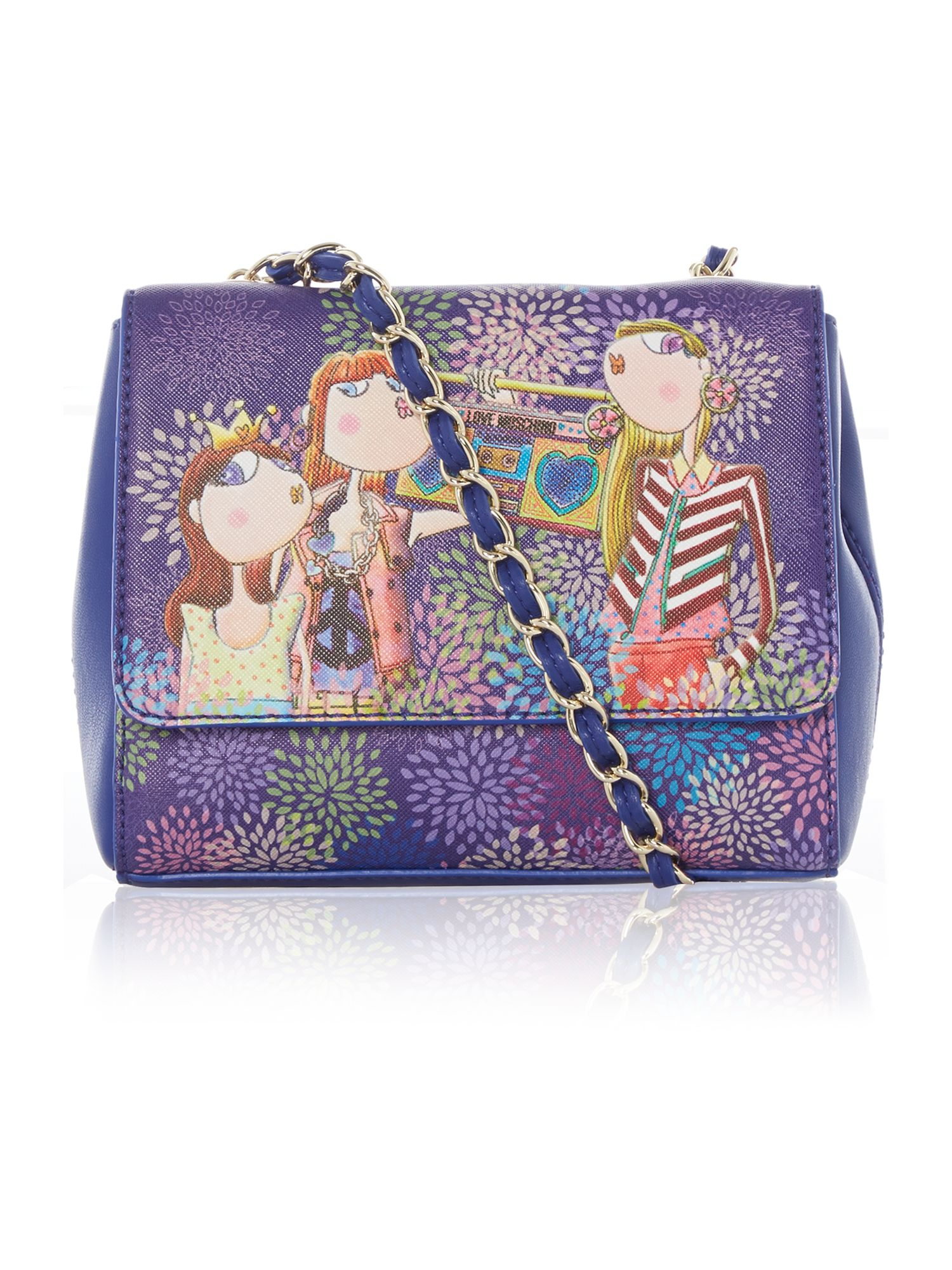 Blue mini charming cross body bag