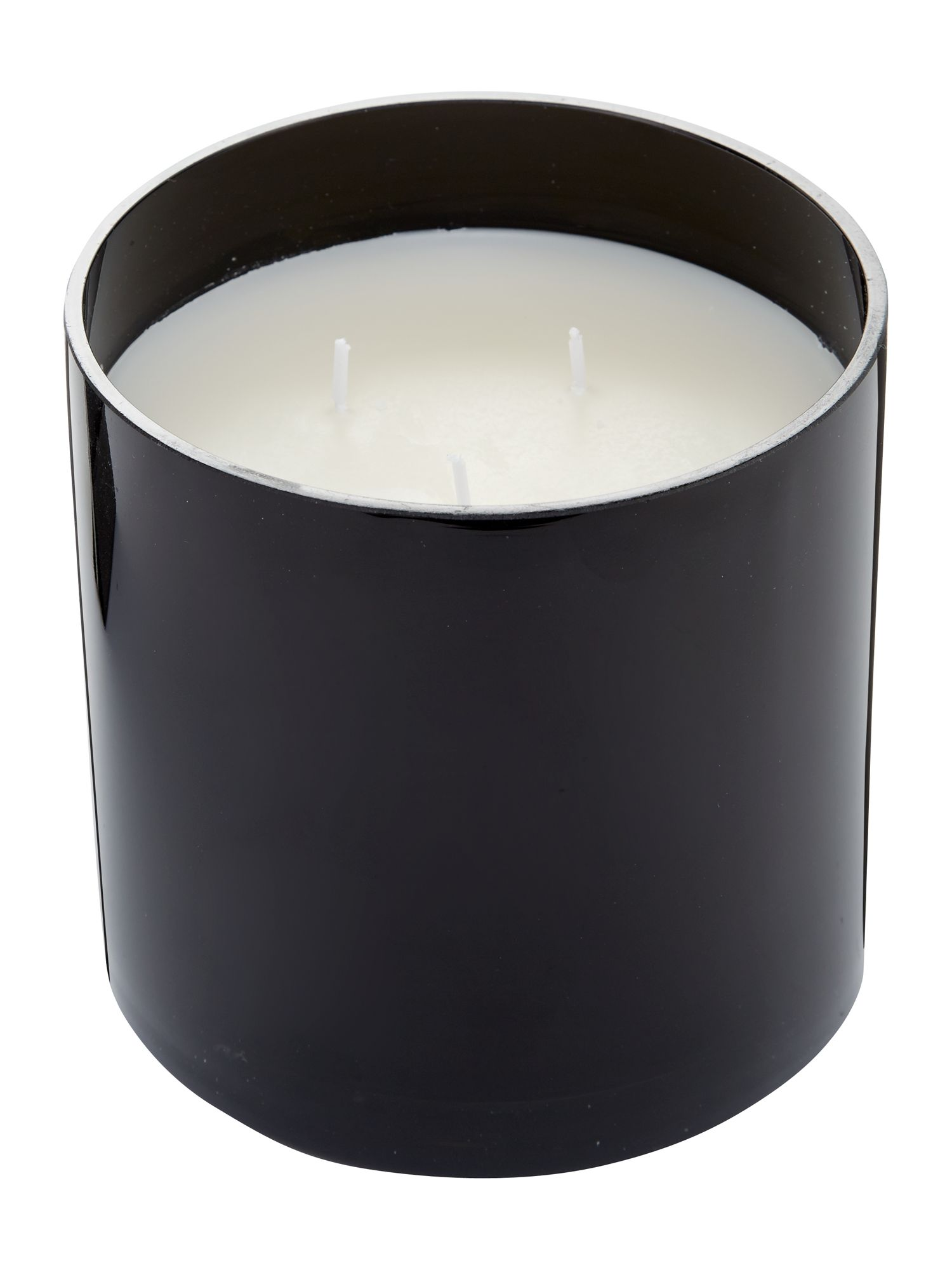 Peach & orchid bloom large candle