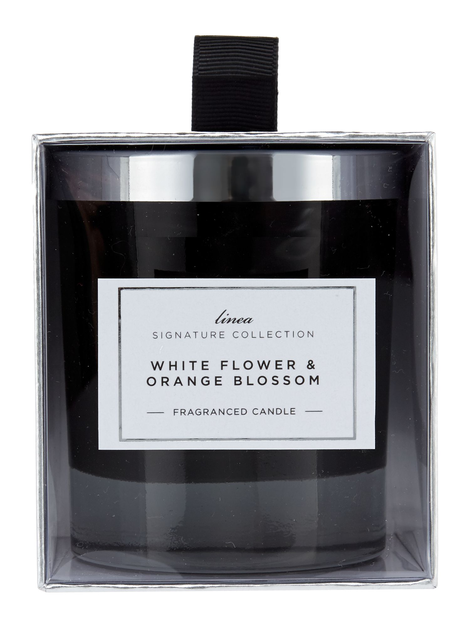 White flowers & orange blossom candle