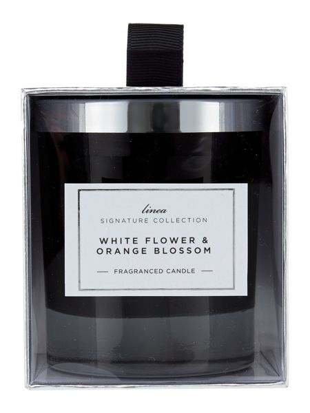 Linea White flowers & orange blossom candle