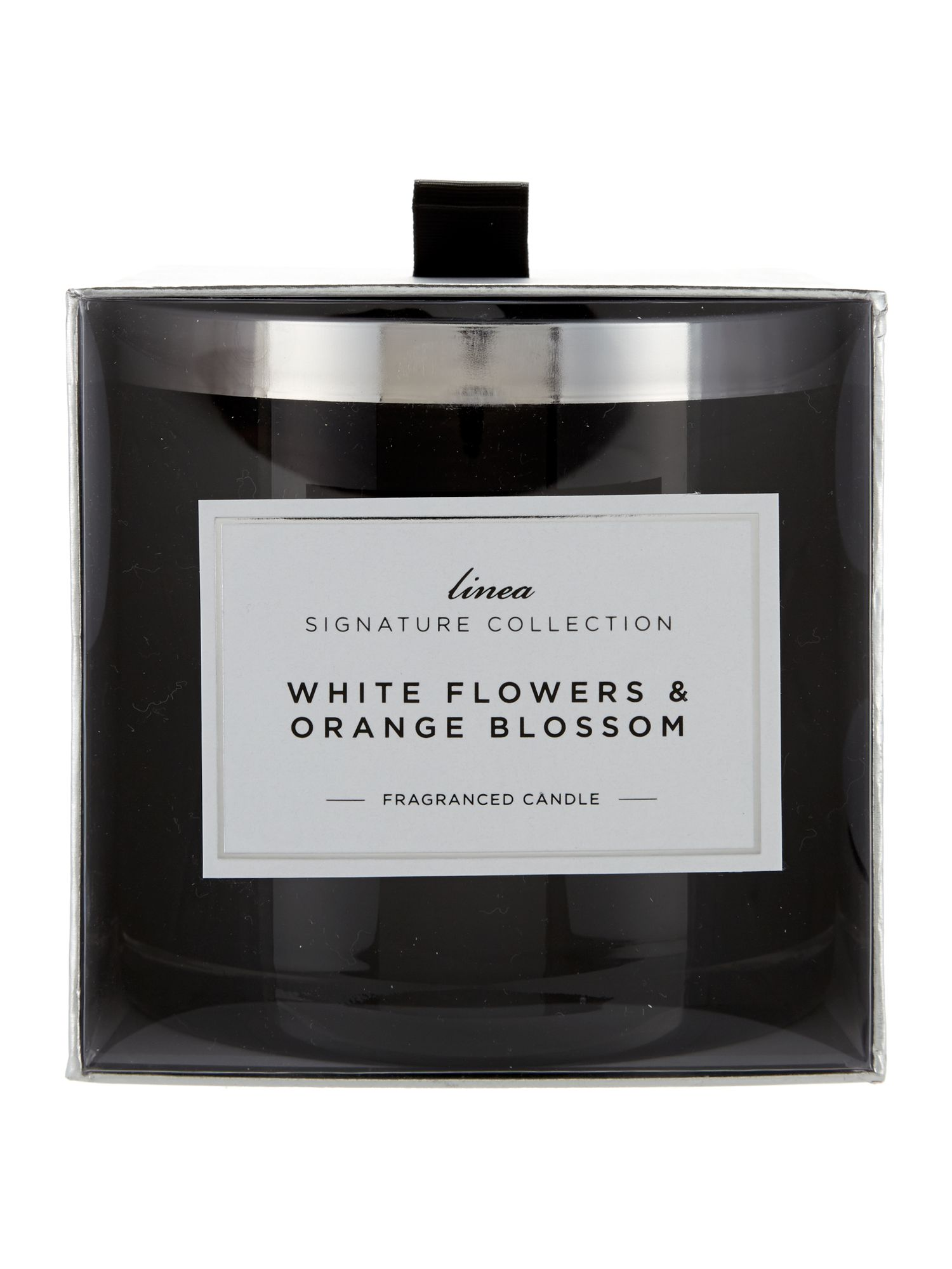 White flowers & orange blossom large candle