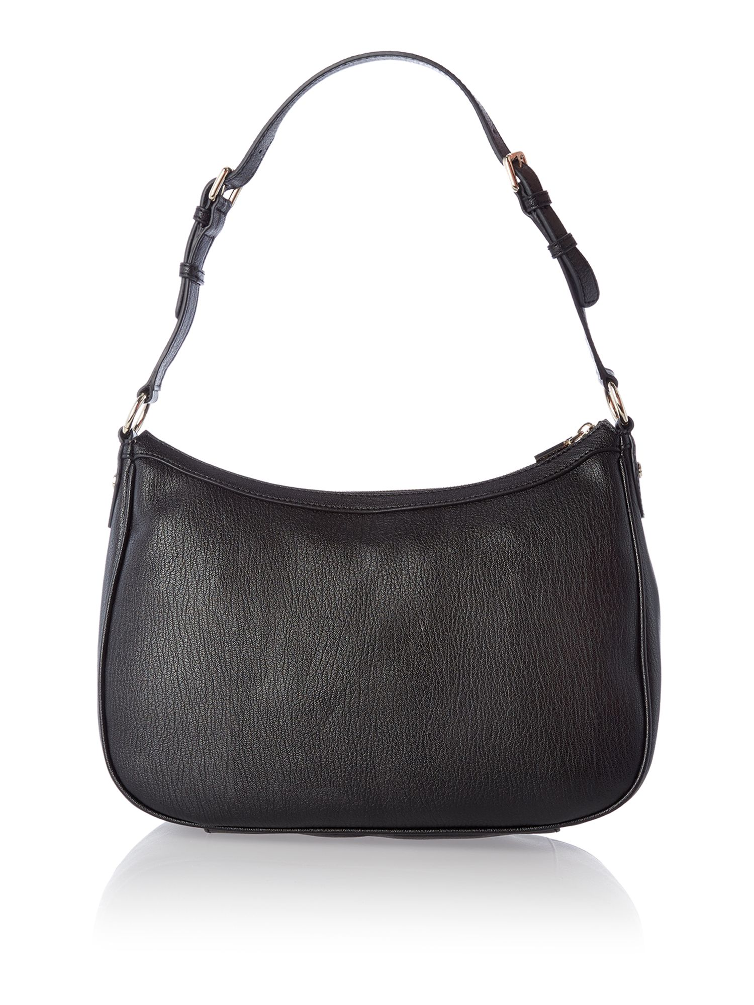 Black medium saffiano hobo bag