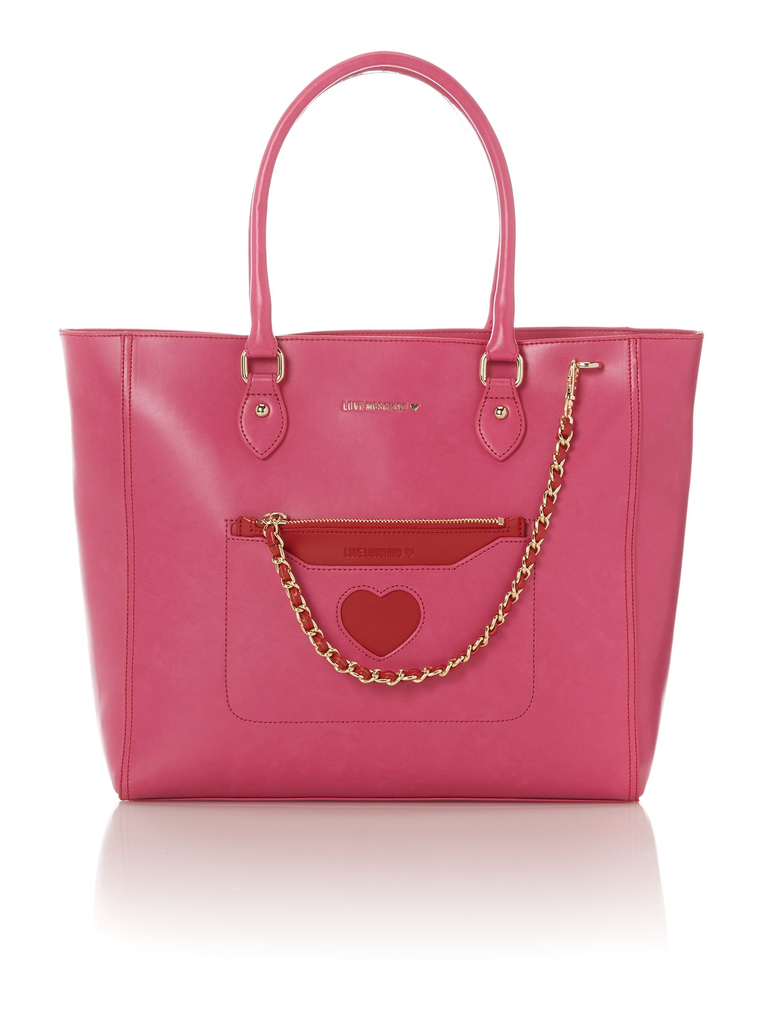 Pink large cut-out tote bag