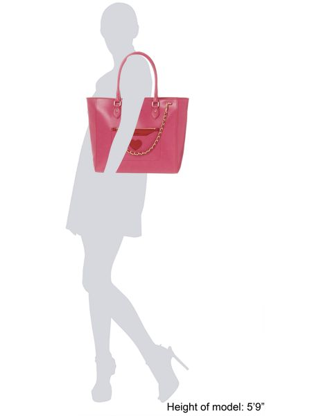 Love Moschino Pink large cut-out tote bag