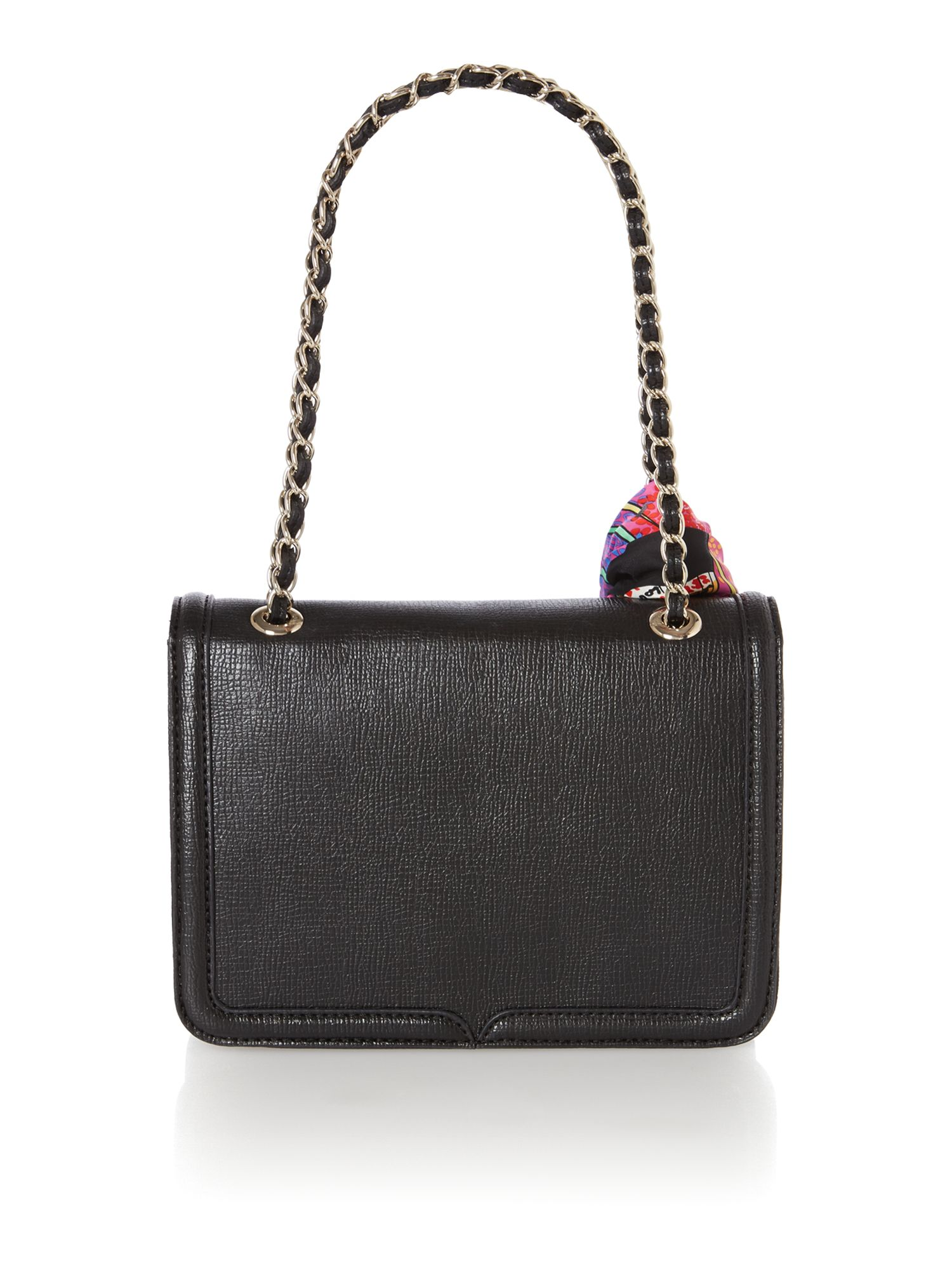 Black small saffiano shoulder bag
