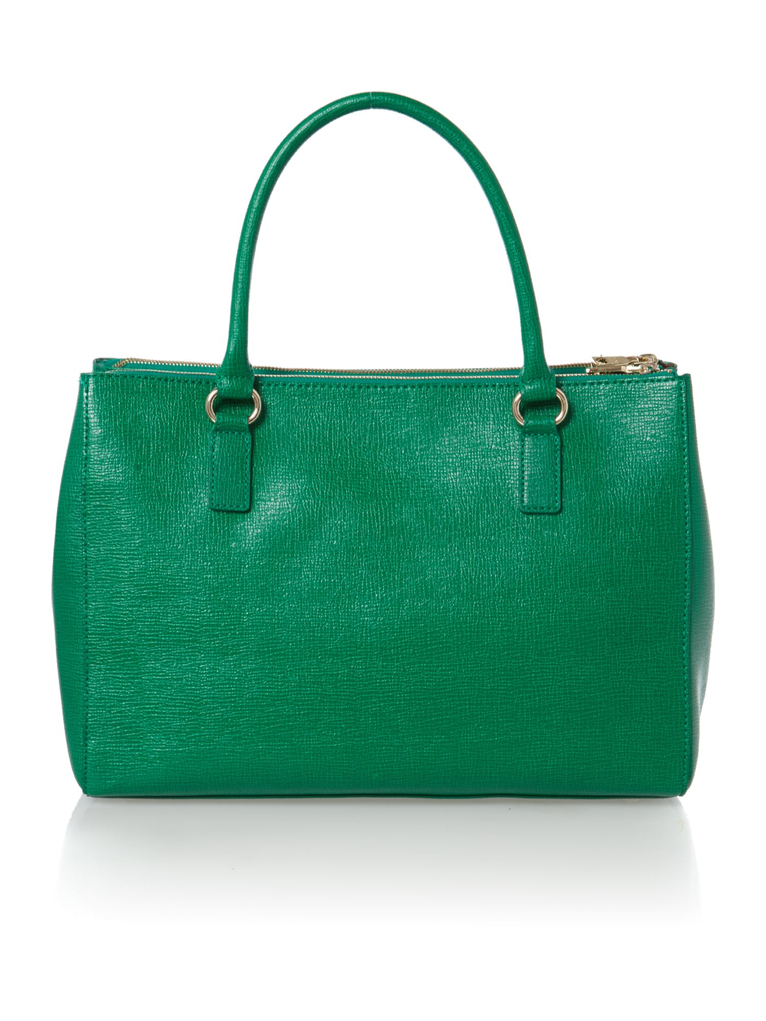 Green large saffiano tote bag