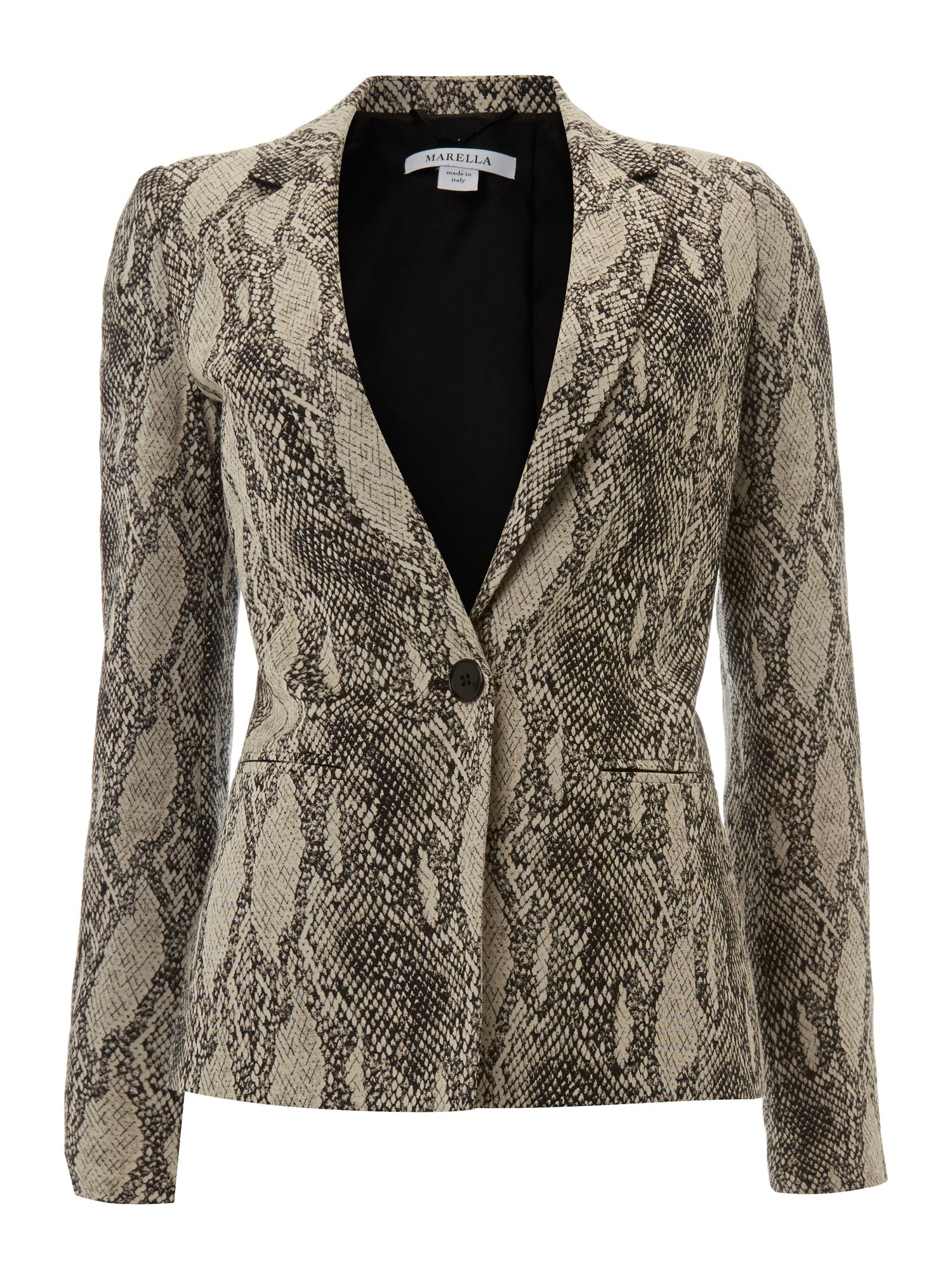 Zante long sleeve snake print jacket