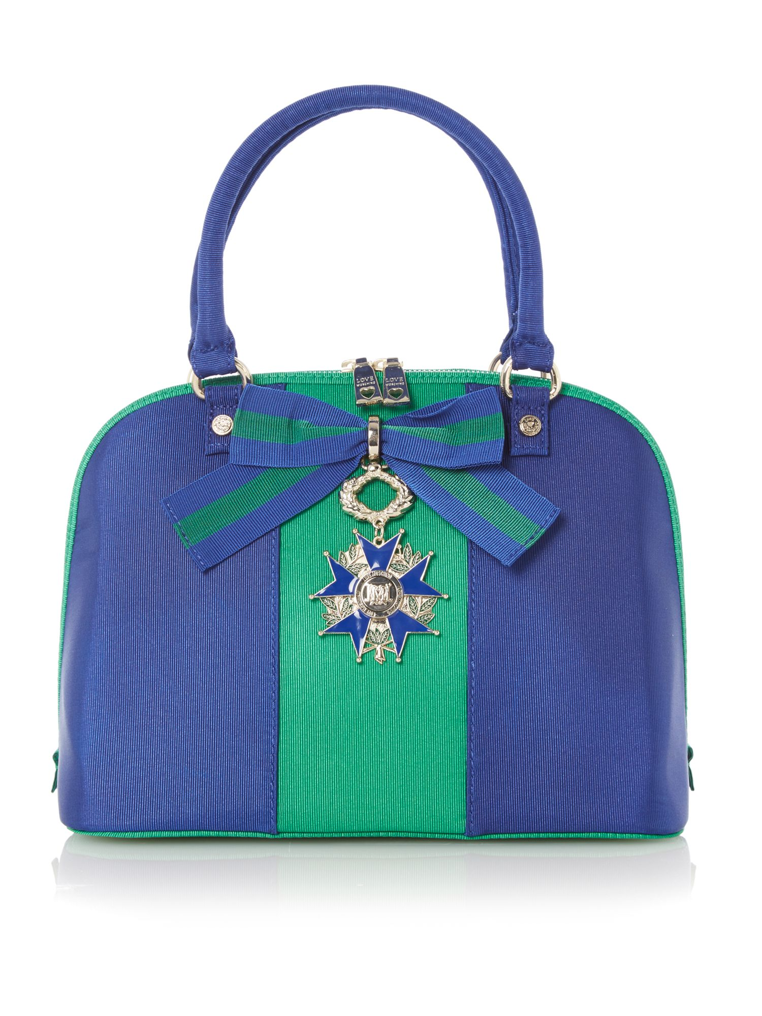 Green and blue stripe dome bag
