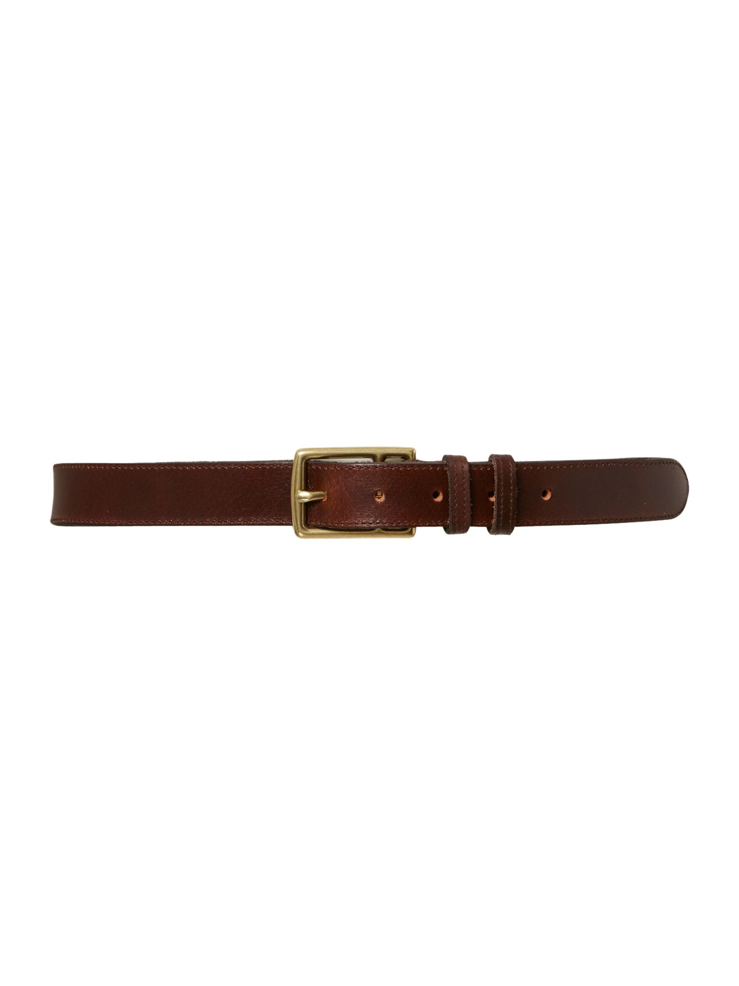 Stitch edge leather belt