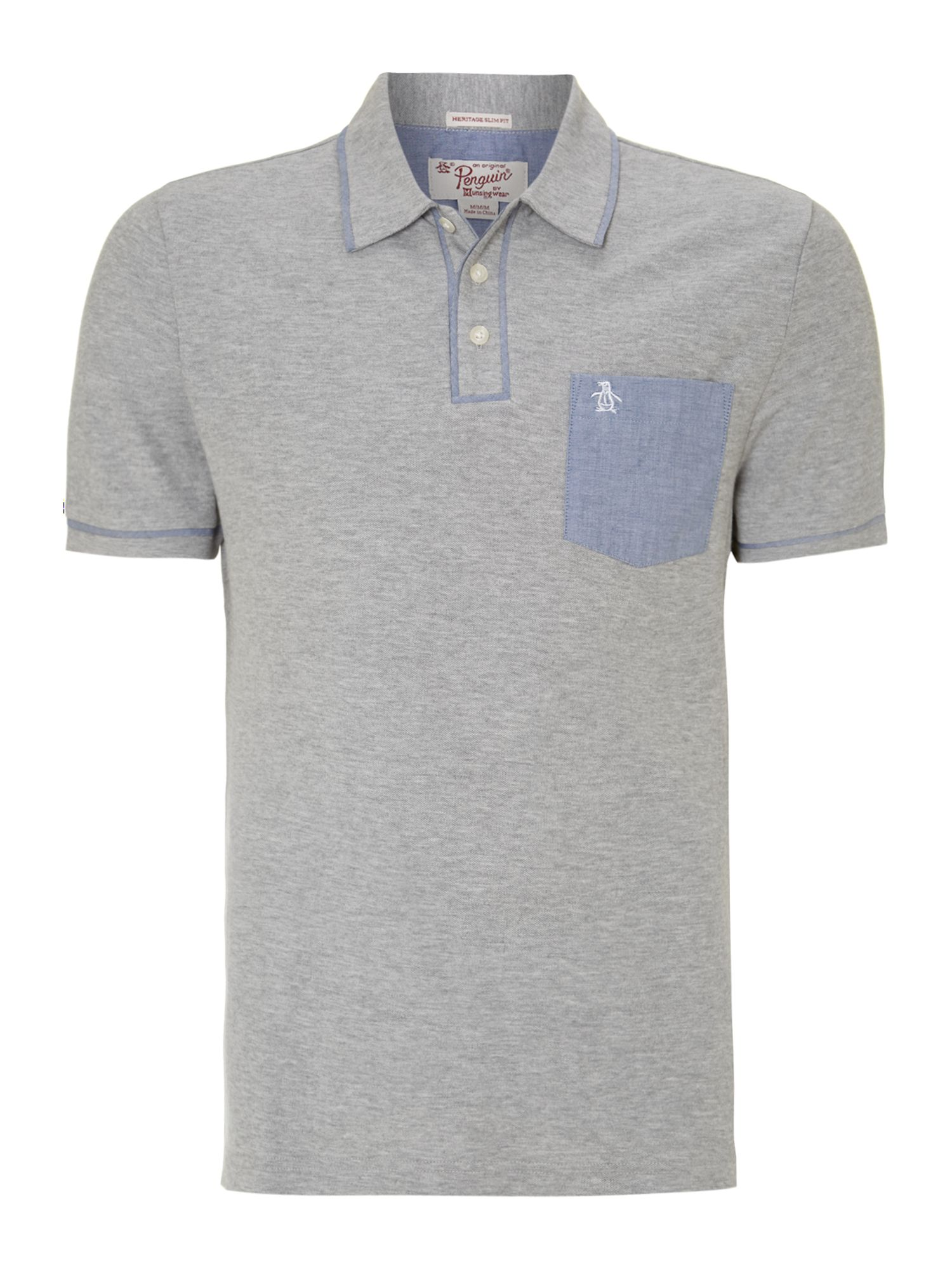 Contrast piping pocket polo