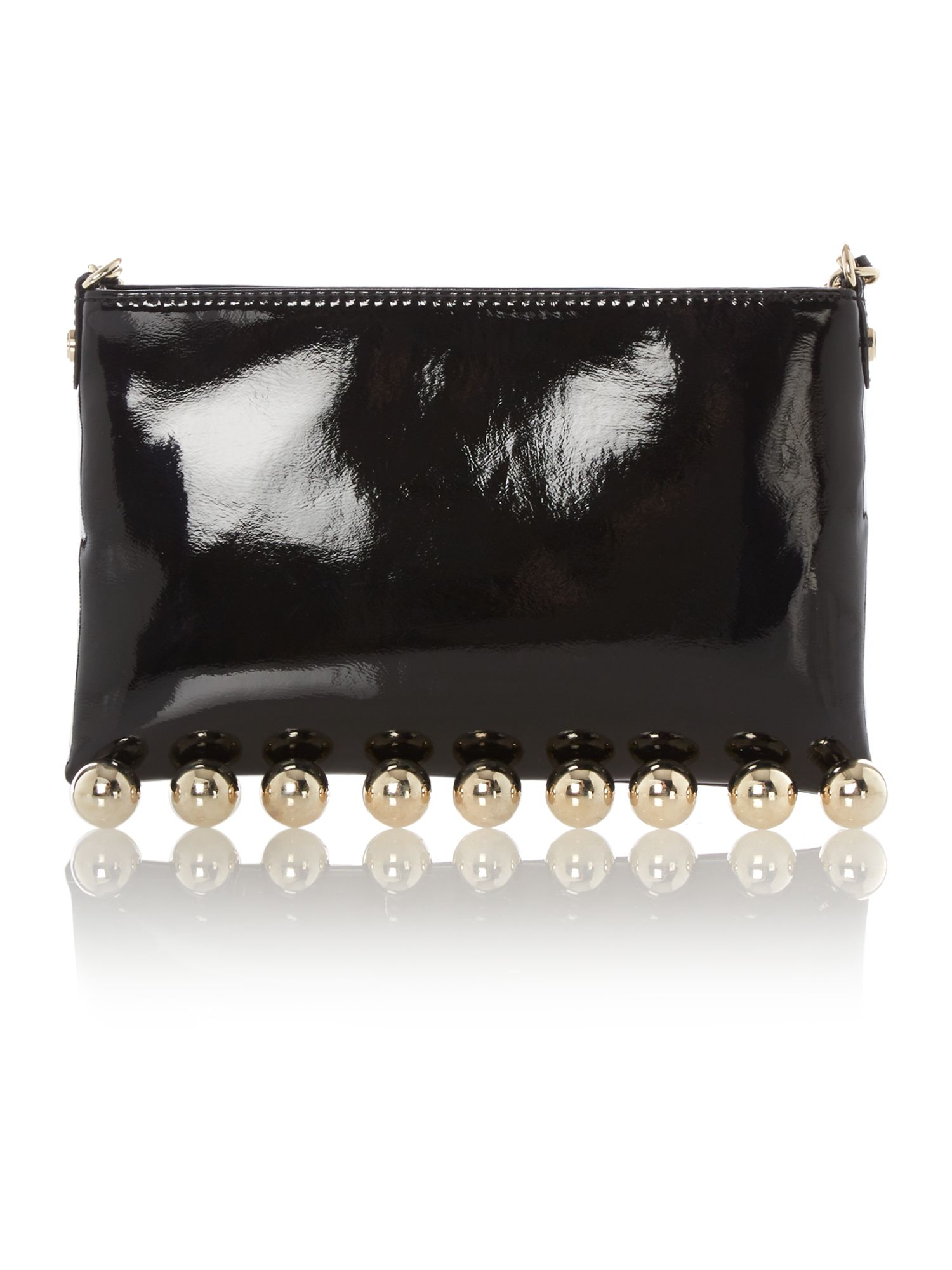 Small black boules shoulder bag