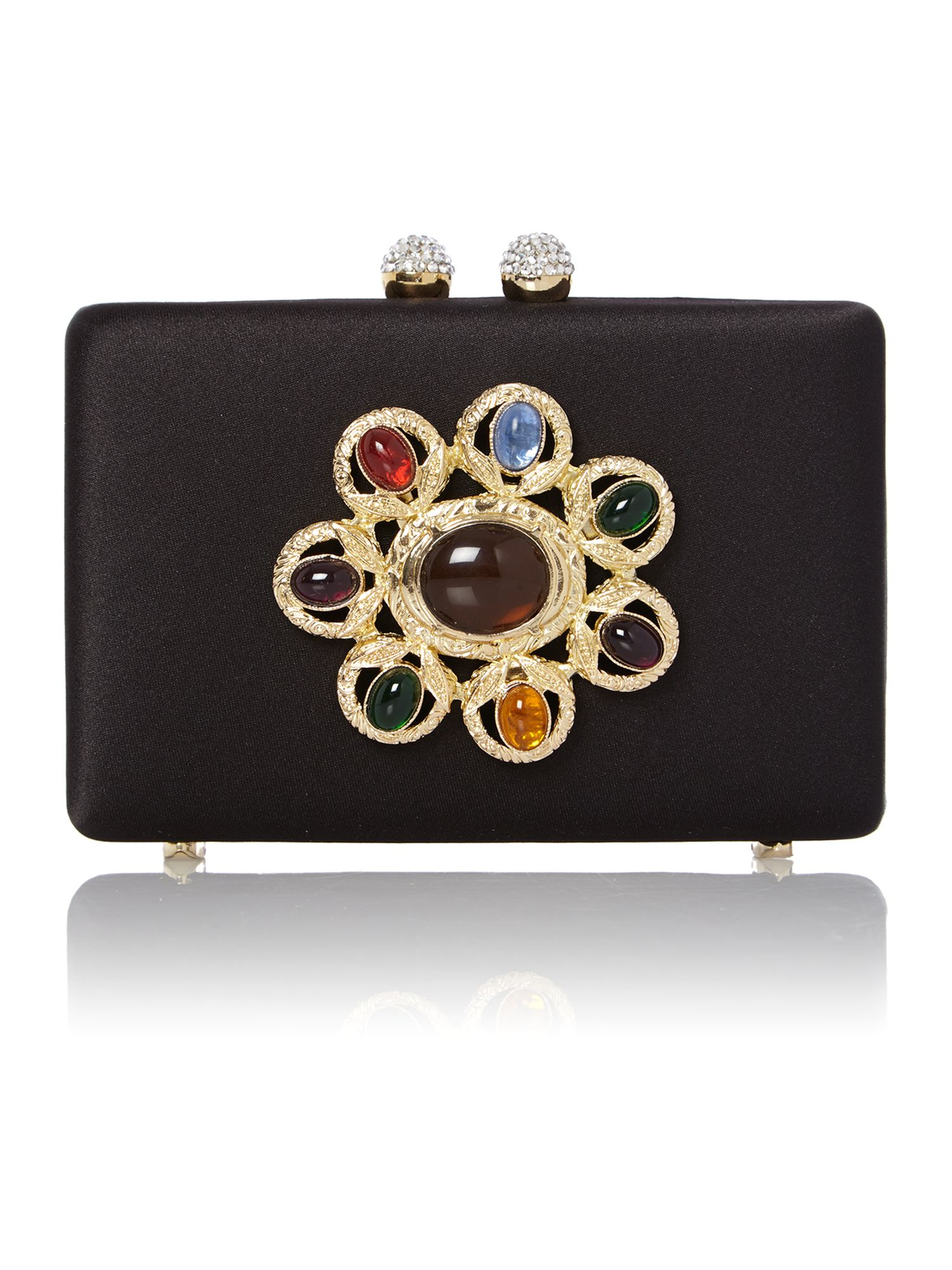 Small black jewel clutch