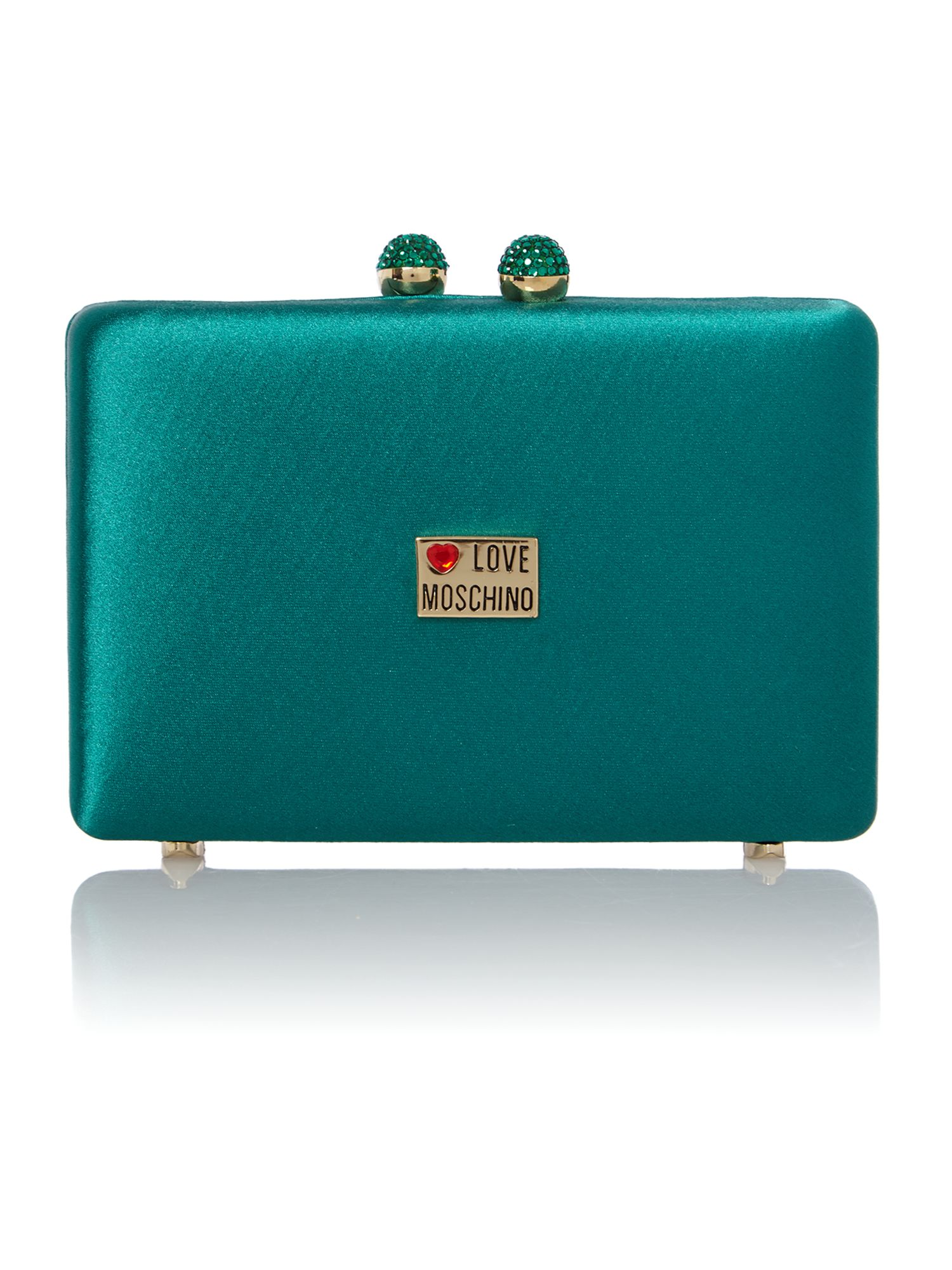 Small green jewel clutch