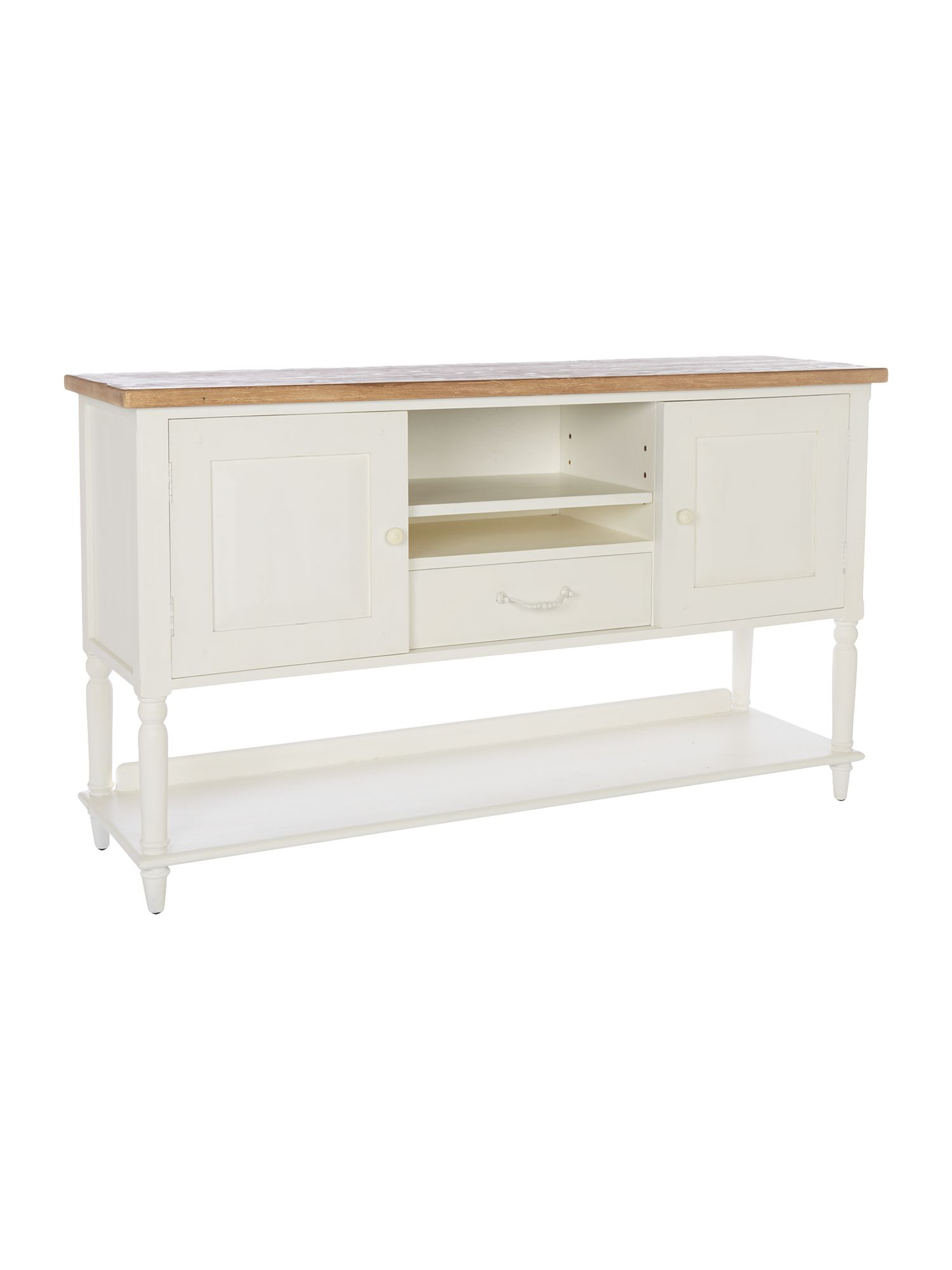 Cambridge natural & white sideboard