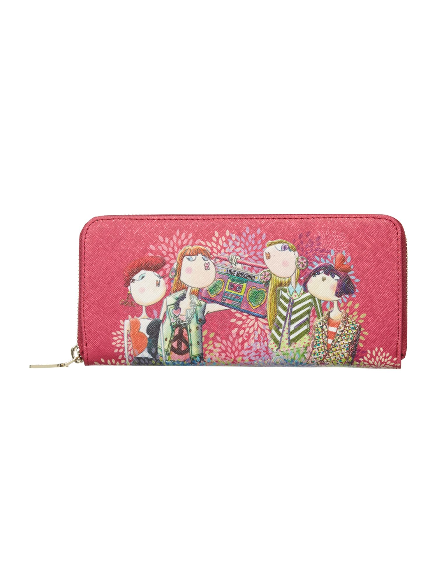 Pink ziparound charming purse
