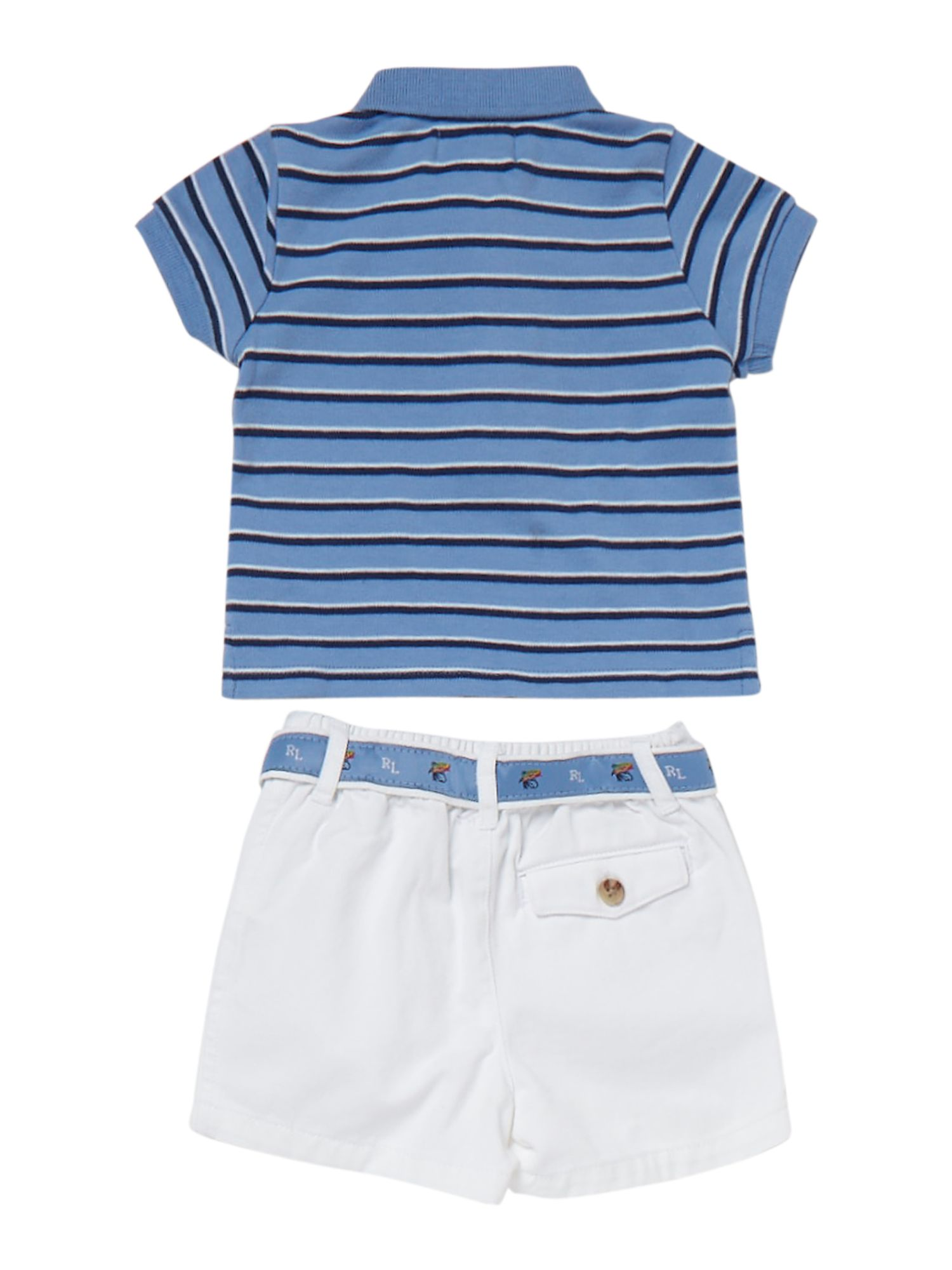 Babys striped polo and shorts set