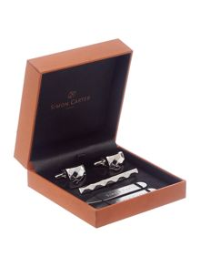 Tie pin and collar stiffeners gift box