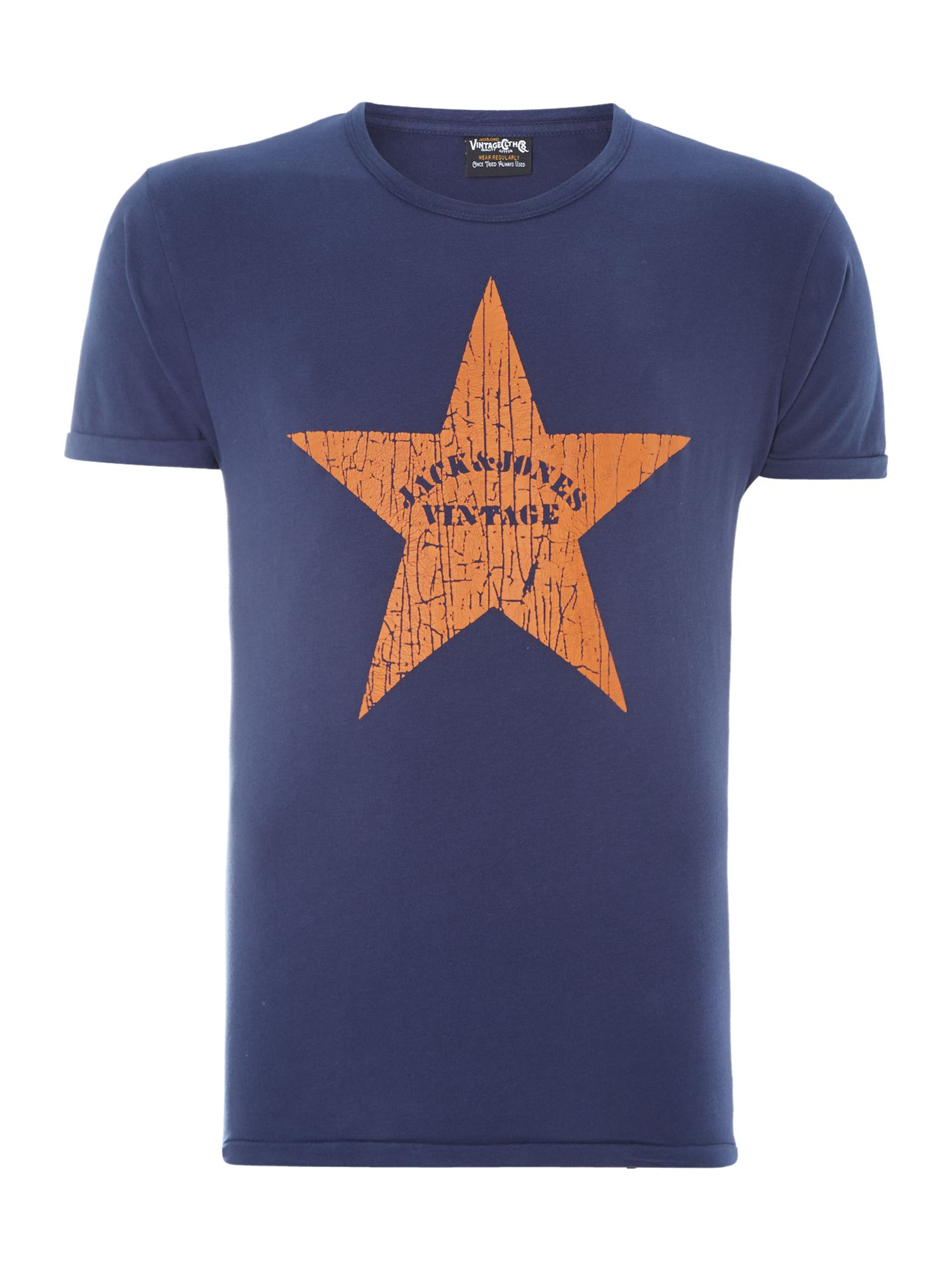 Cracked star print t-shirt
