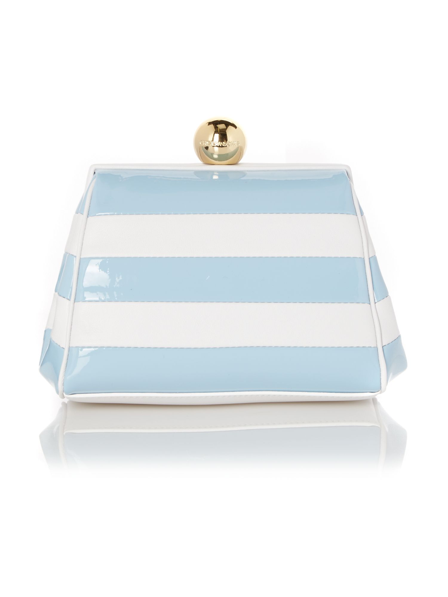 Stripe blue small frame bag