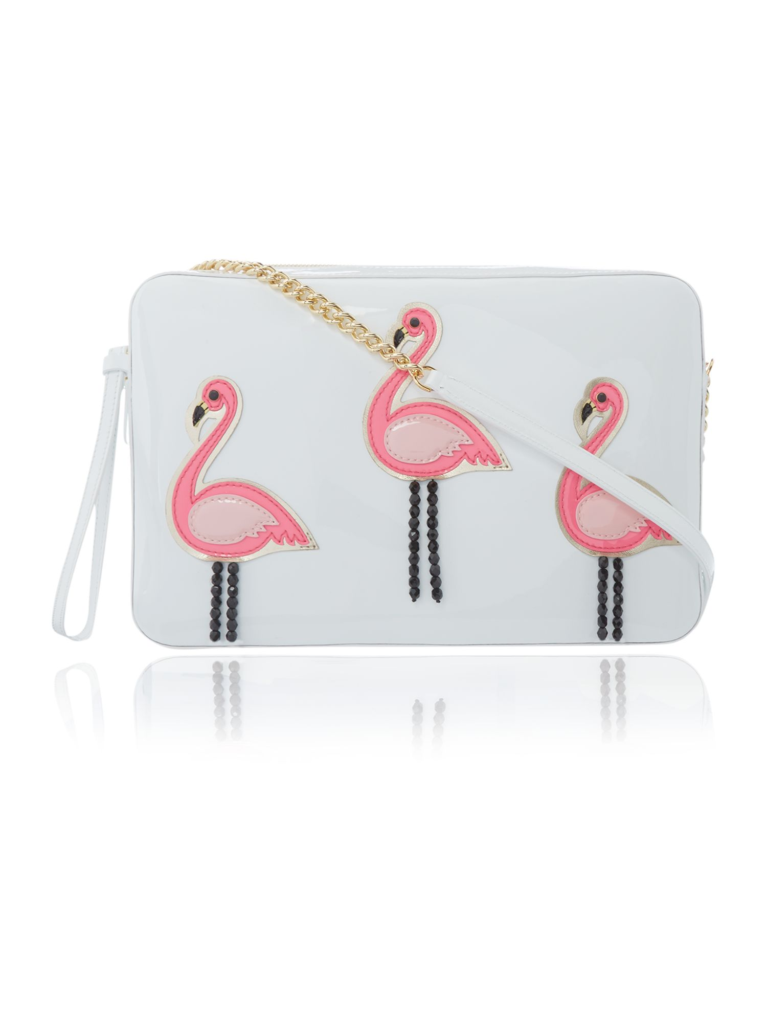 Flamingo Multi coloured tote bag