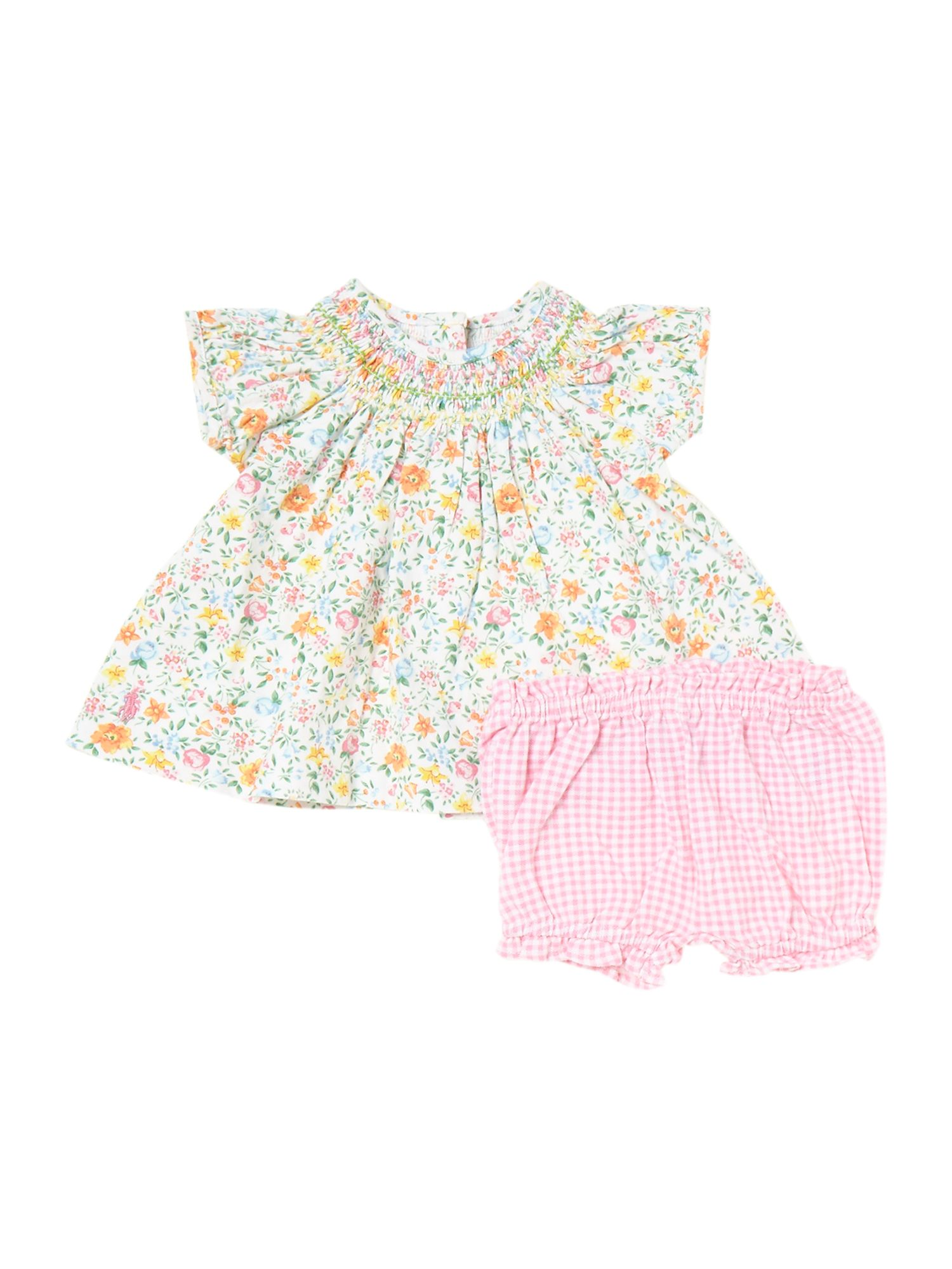 Babys floral top and bloomers set