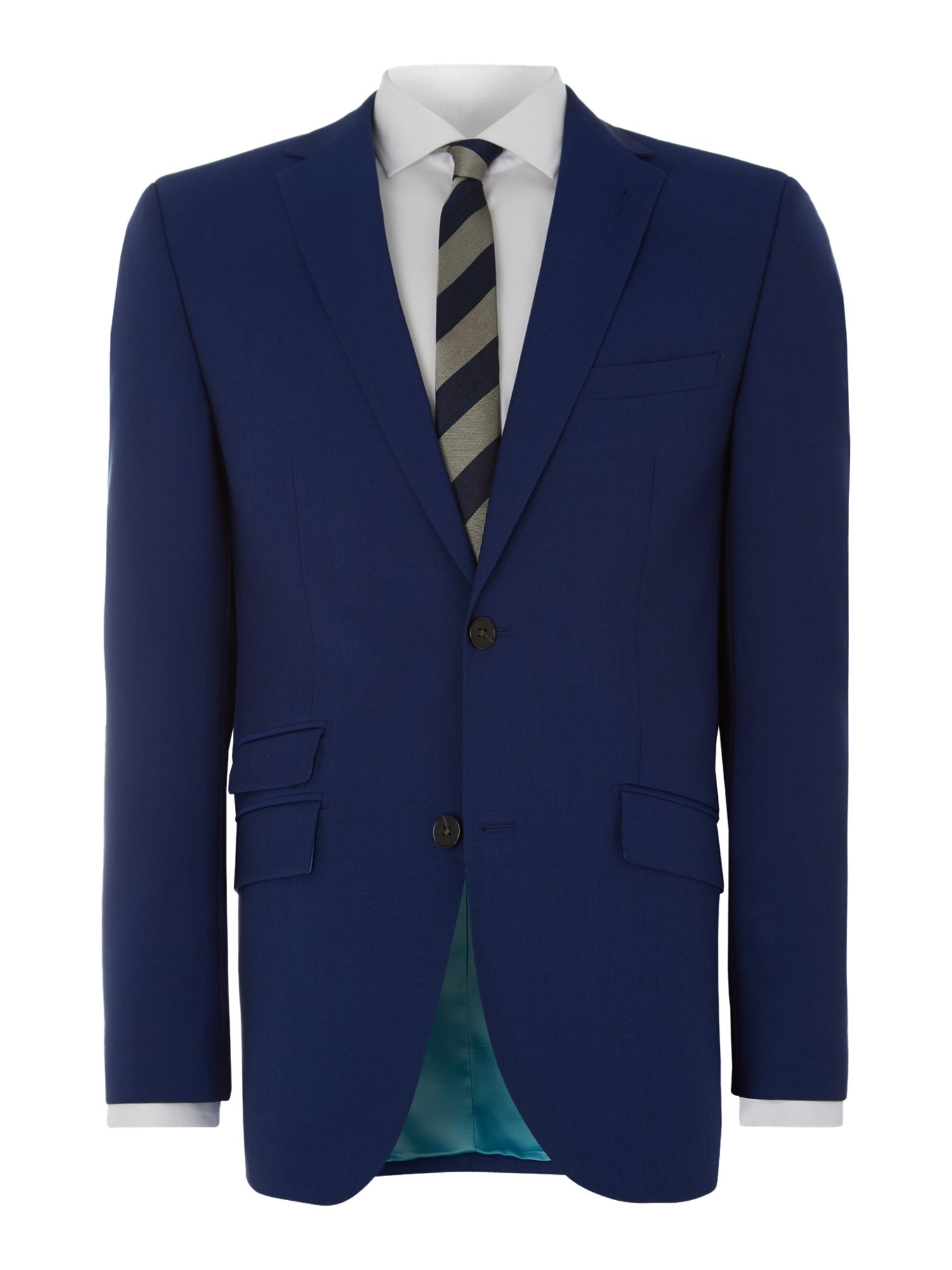Randolph regular fit mohair solid suit