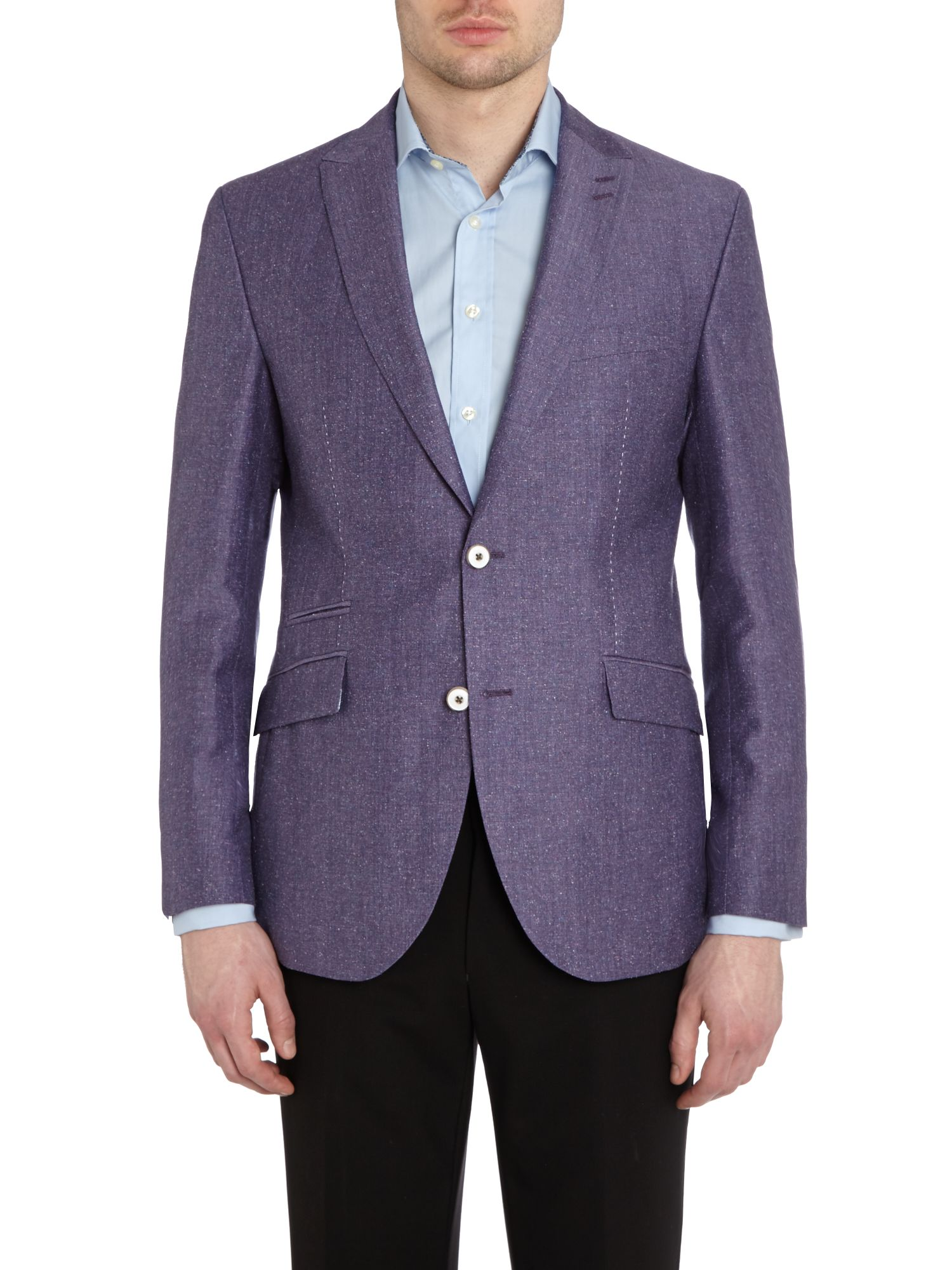 Buckley regular fit fleck silk mix jacket