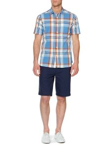manorville check short sleeve shirt
